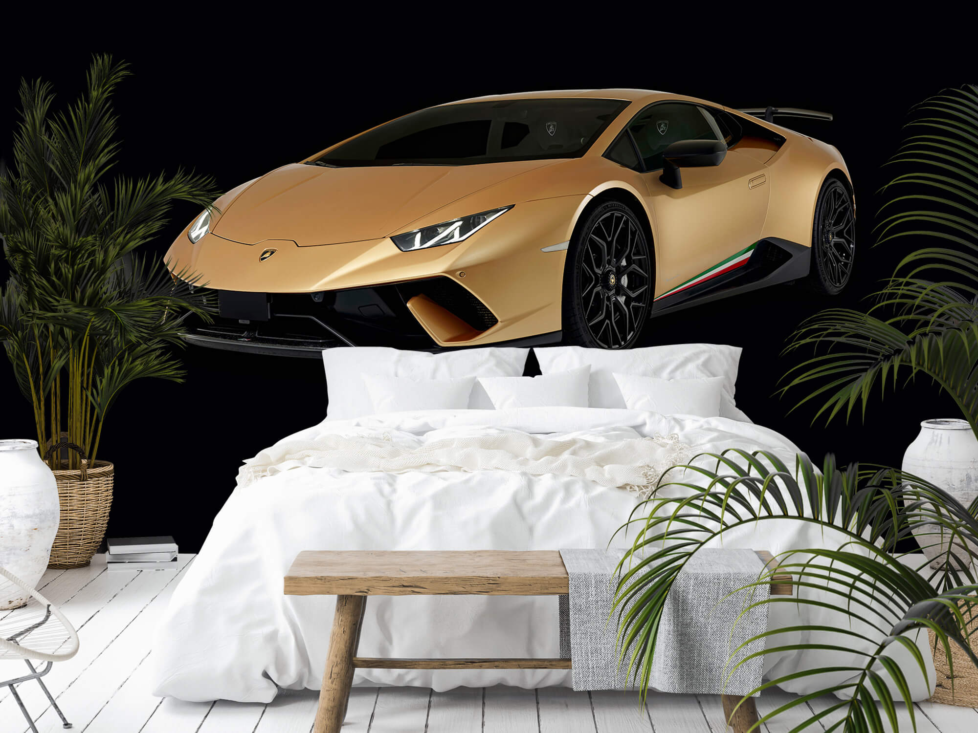 Wallpaper Lamborghini Huracán - Rechter voorkant, zwart 11