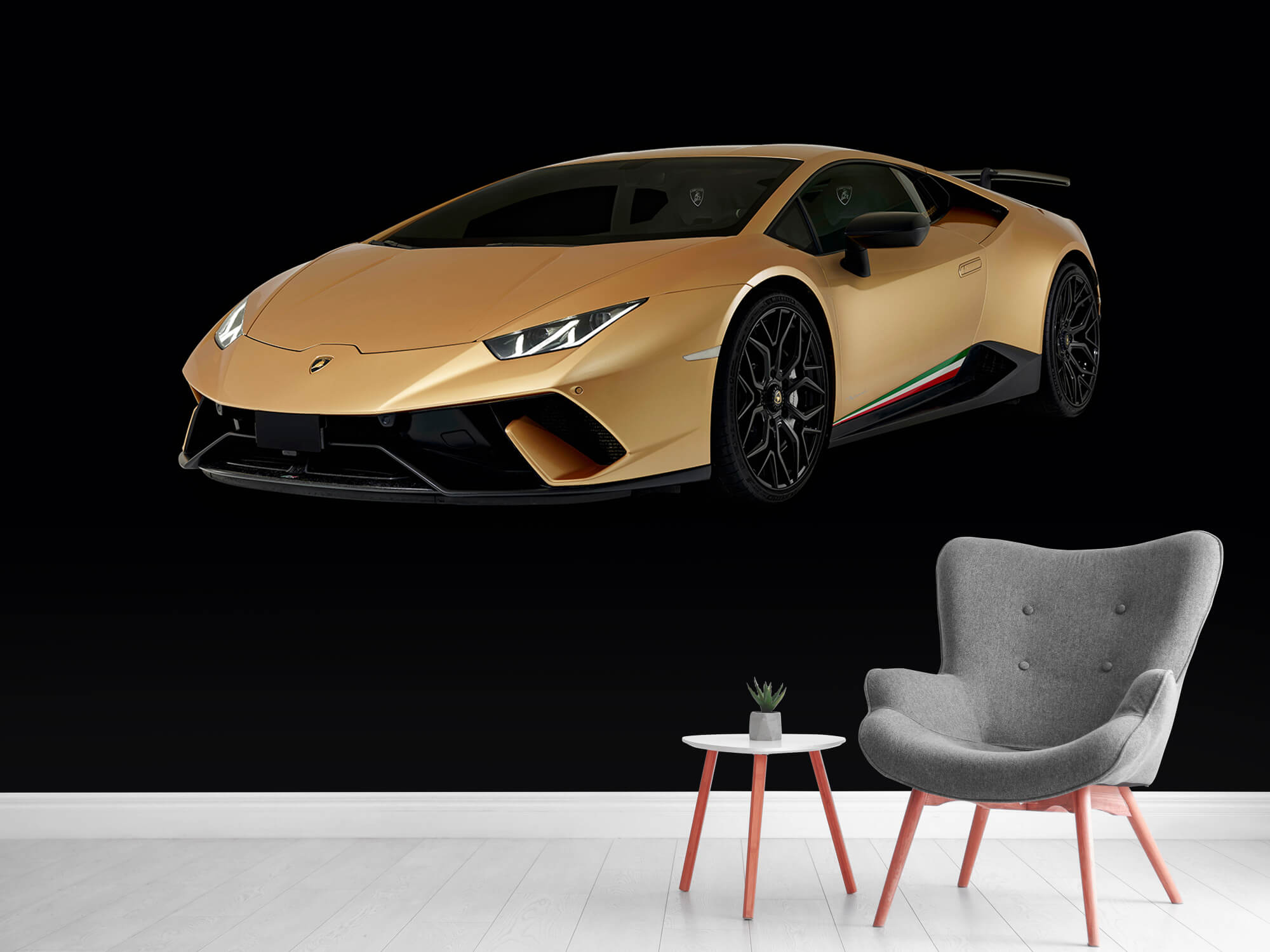 Wallpaper Lamborghini Huracán - Rechter voorkant, zwart 5