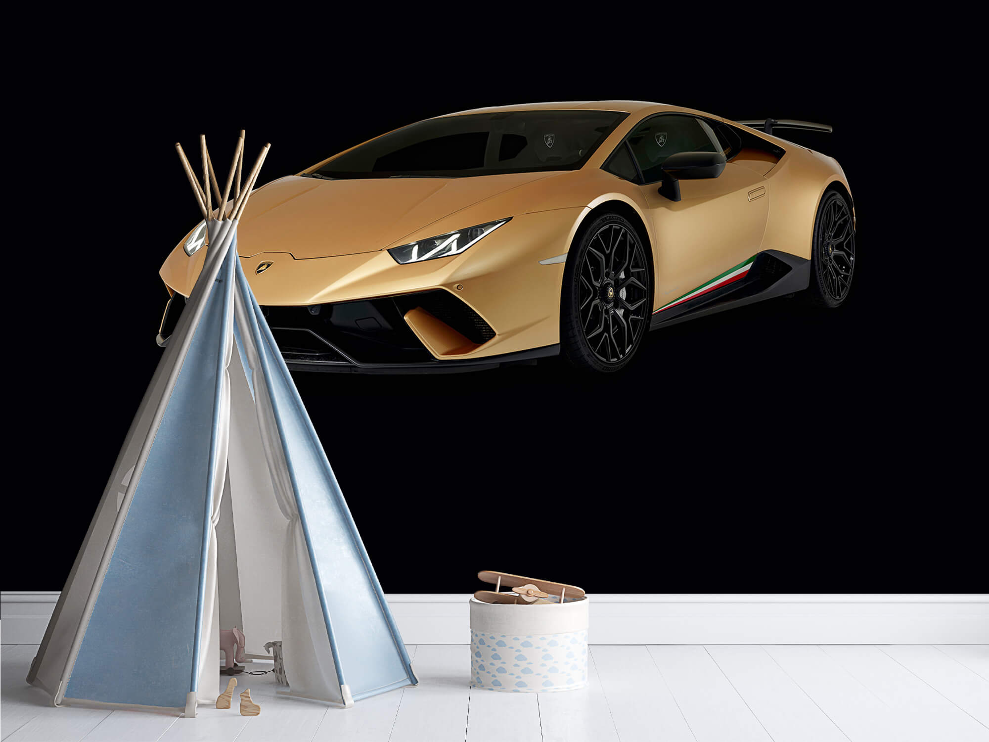 Wallpaper Lamborghini Huracán - Rechter voorkant, zwart 12
