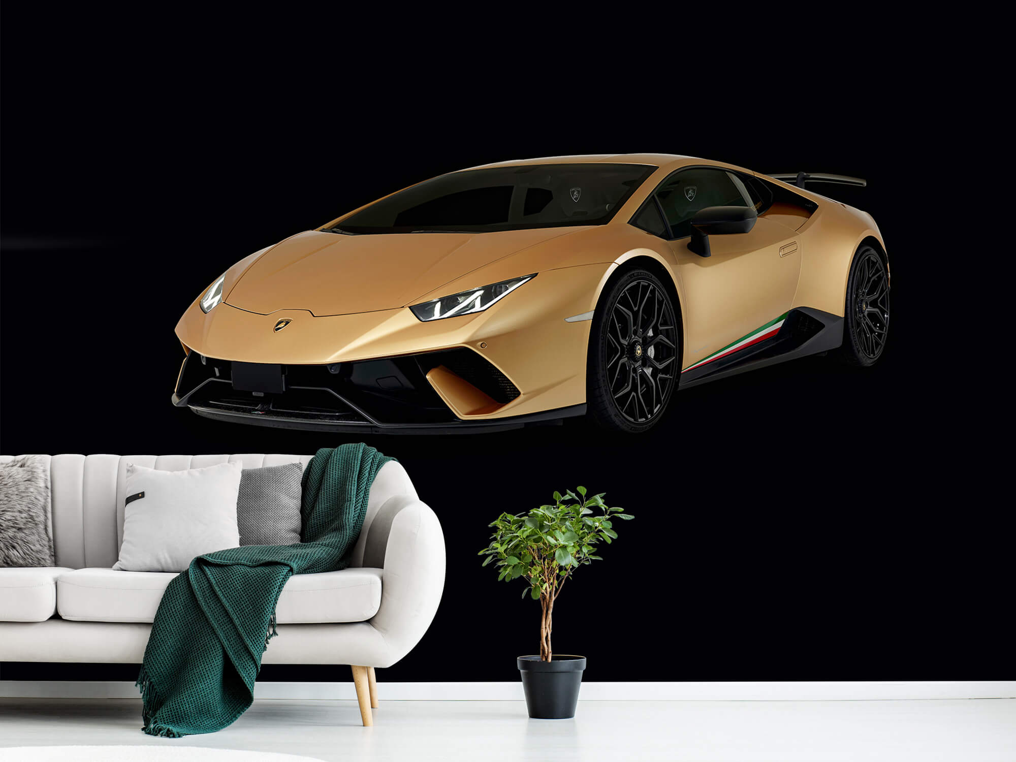 Wallpaper Lamborghini Huracán - Rechter voorkant, zwart 1