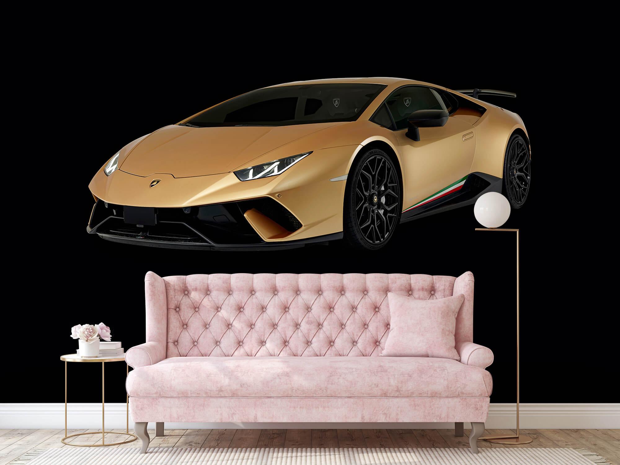 Wallpaper Lamborghini Huracán - Rechter voorkant, zwart 13