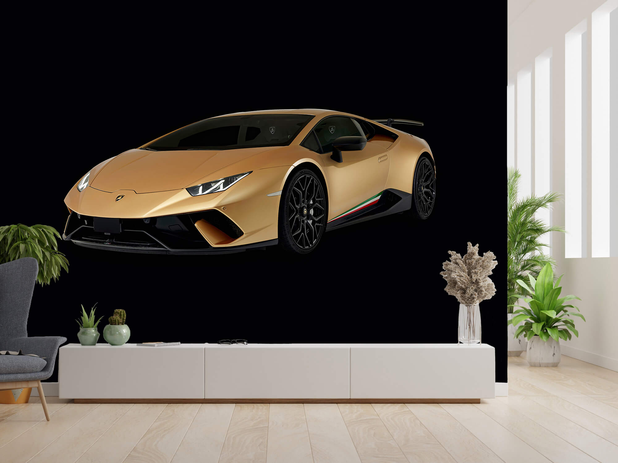 Wallpaper Lamborghini Huracán - Rechter voorkant, zwart 4