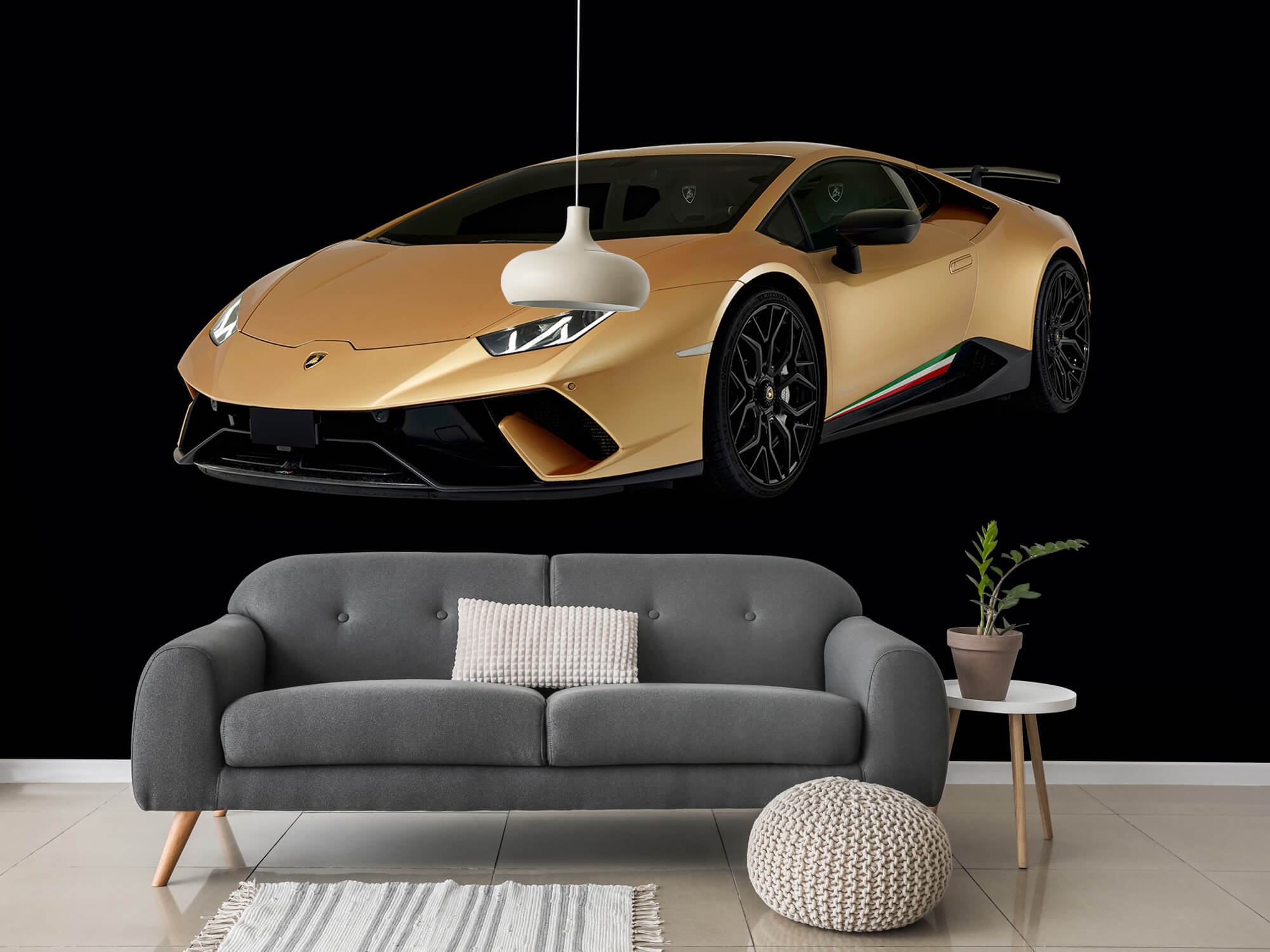 Wallpaper Lamborghini Huracán - Rechter voorkant, zwart 15
