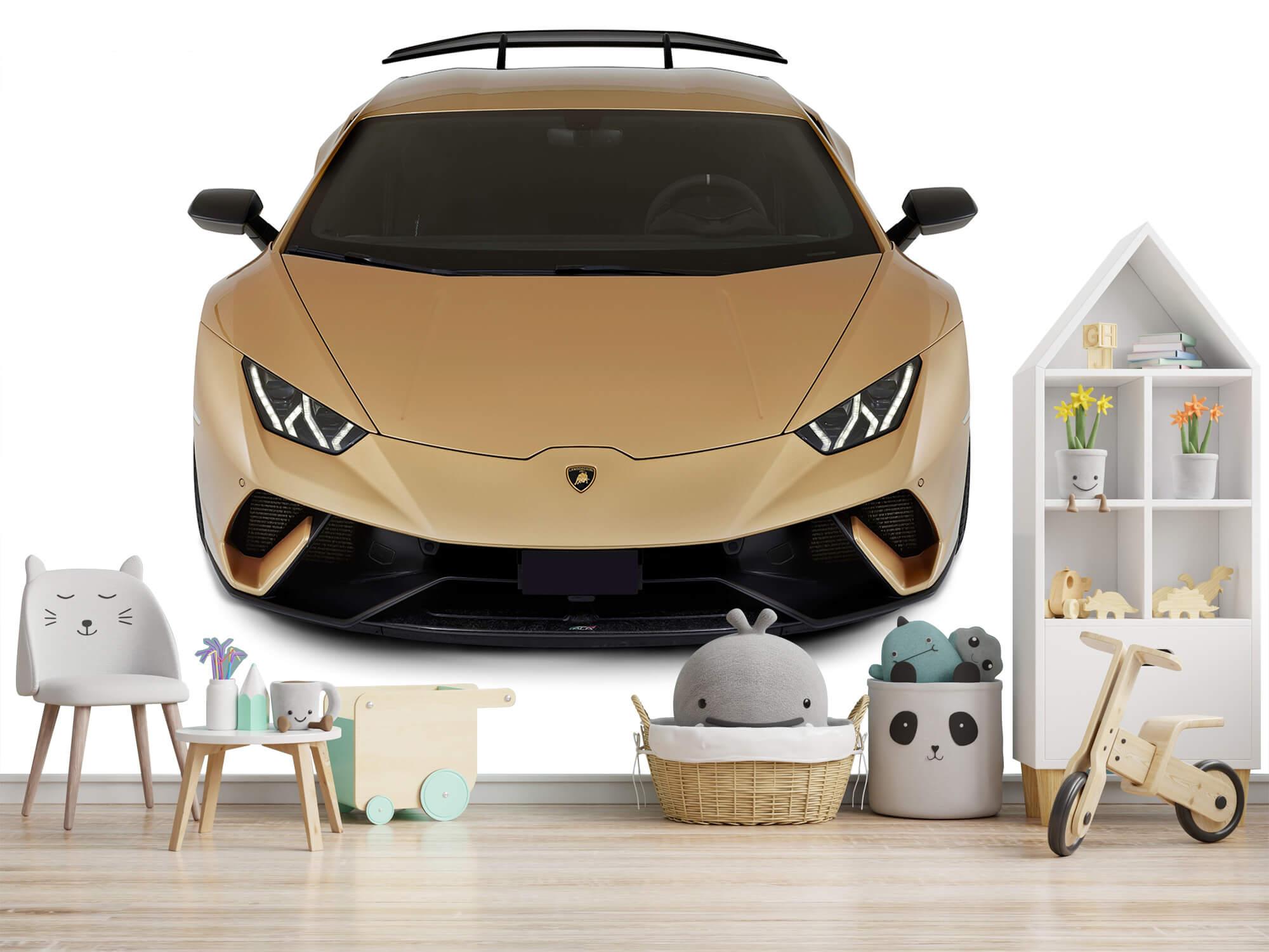 Wallpaper Lamborghini Huracán - Voorkant vanaf boven, wit 6