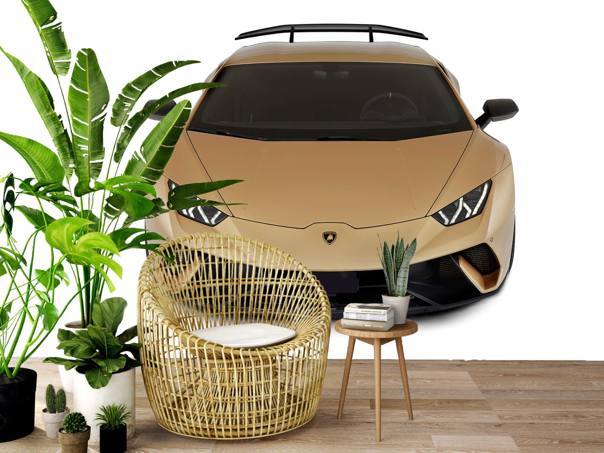 Wallpaper Lamborghini Huracán - Voorkant vanaf boven, wit 7
