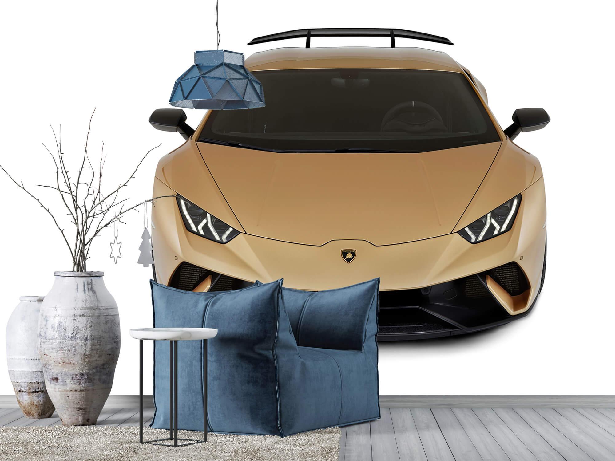 Wallpaper Lamborghini Huracán - Voorkant vanaf boven, wit 9