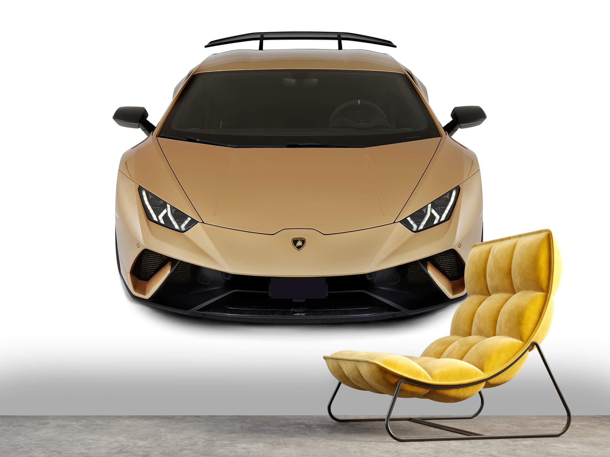 Wallpaper Lamborghini Huracán - Voorkant vanaf boven, wit 12