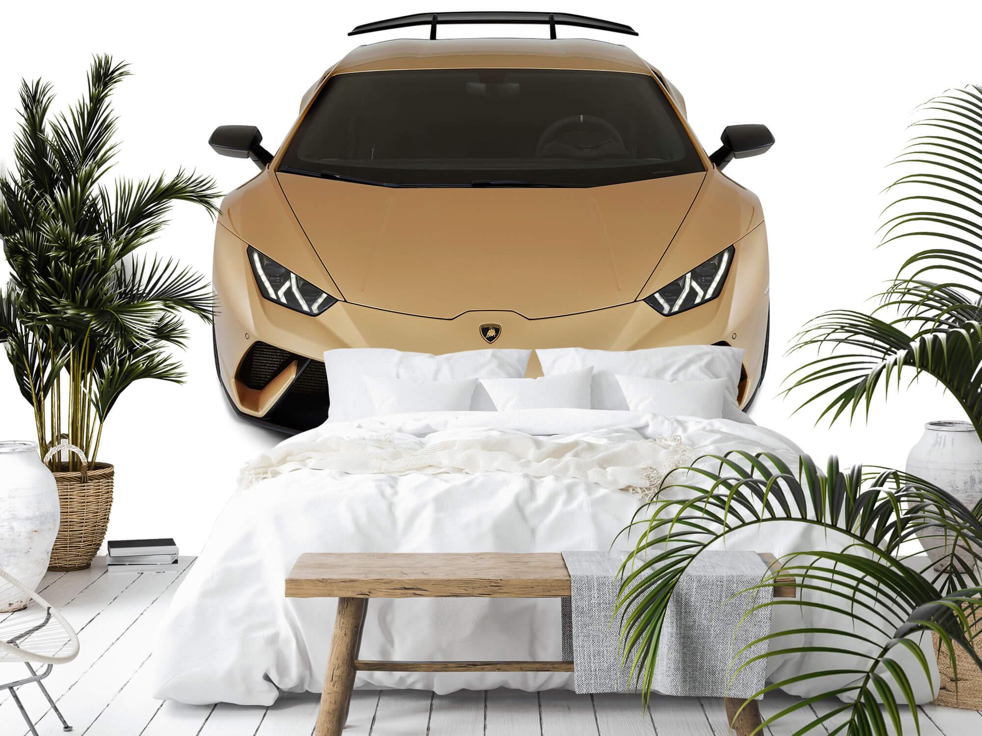 Wallpaper Lamborghini Huracán - Voorkant vanaf boven, wit 11