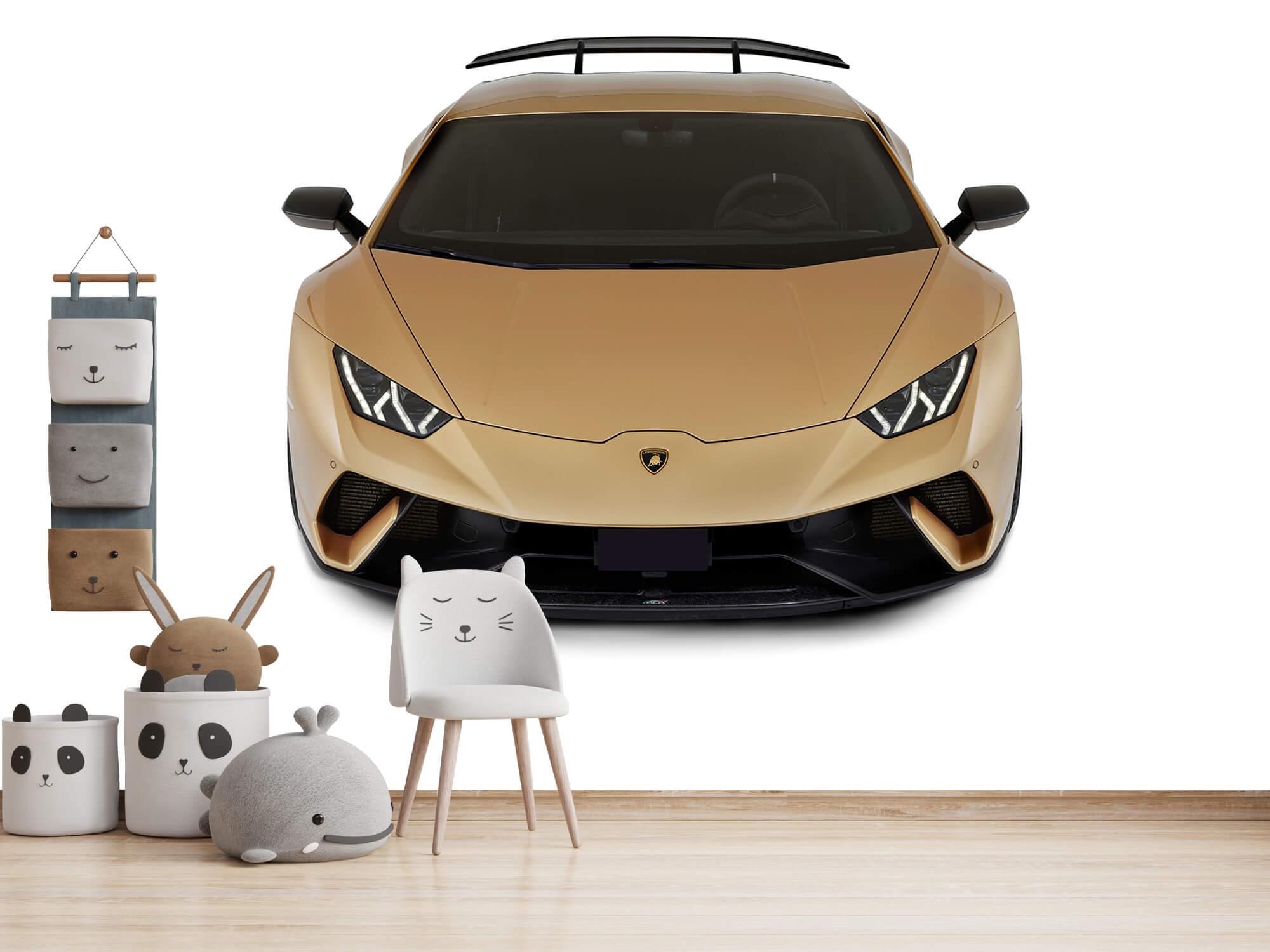 Wallpaper Lamborghini Huracán - Voorkant vanaf boven, wit 8