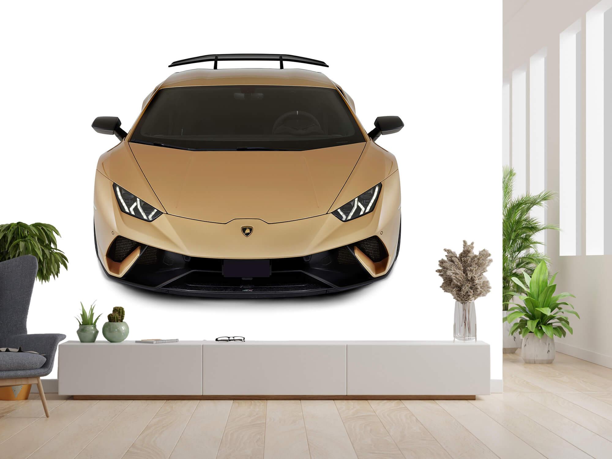 Wallpaper Lamborghini Huracán - Voorkant vanaf boven, wit 4