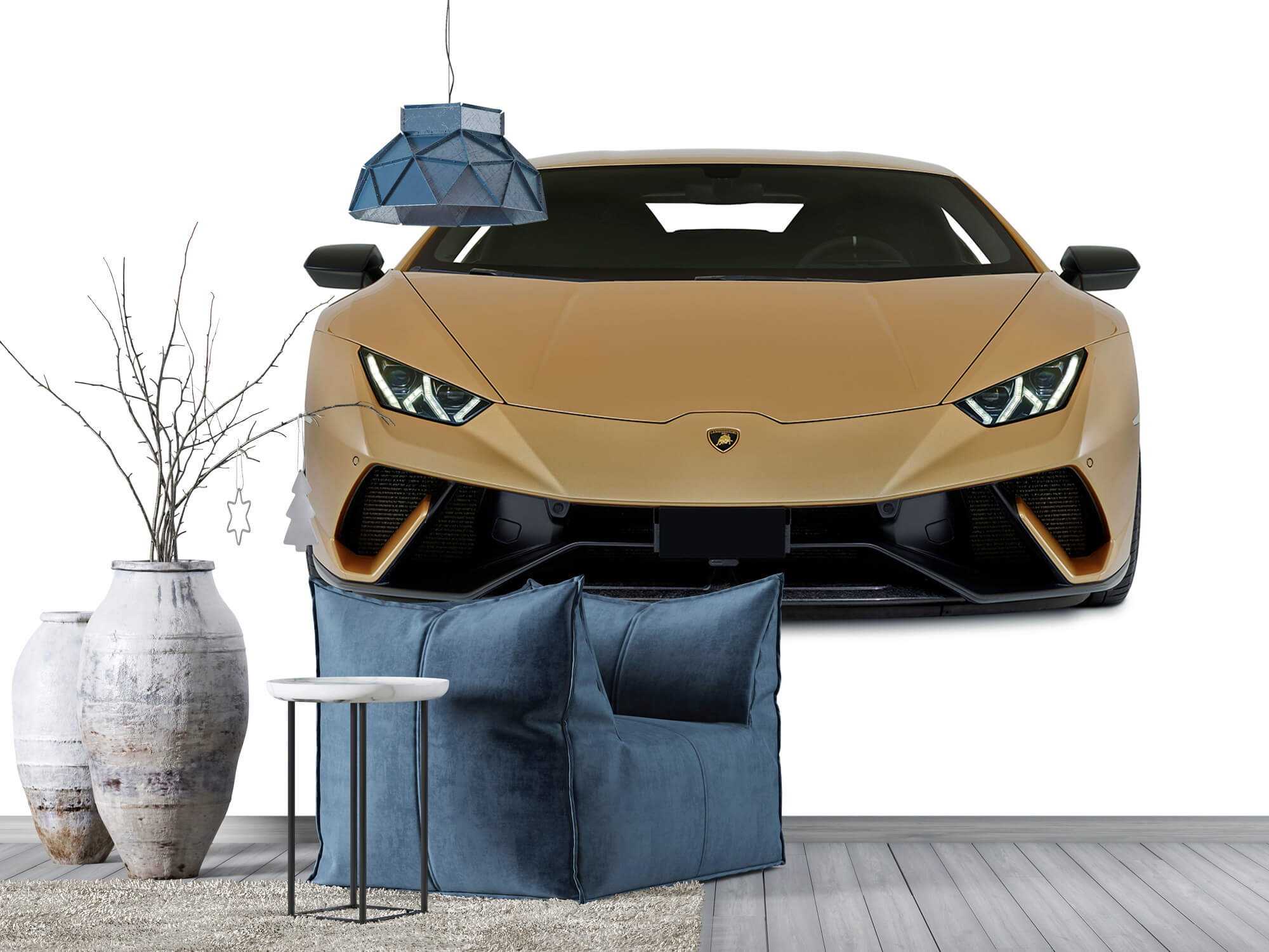 Wallpaper Lamborghini Huracán - Voorkant, wit 5