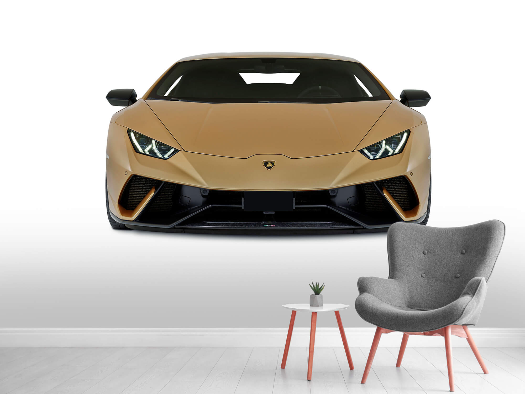 Wallpaper Lamborghini Huracán - Voorkant, wit 8