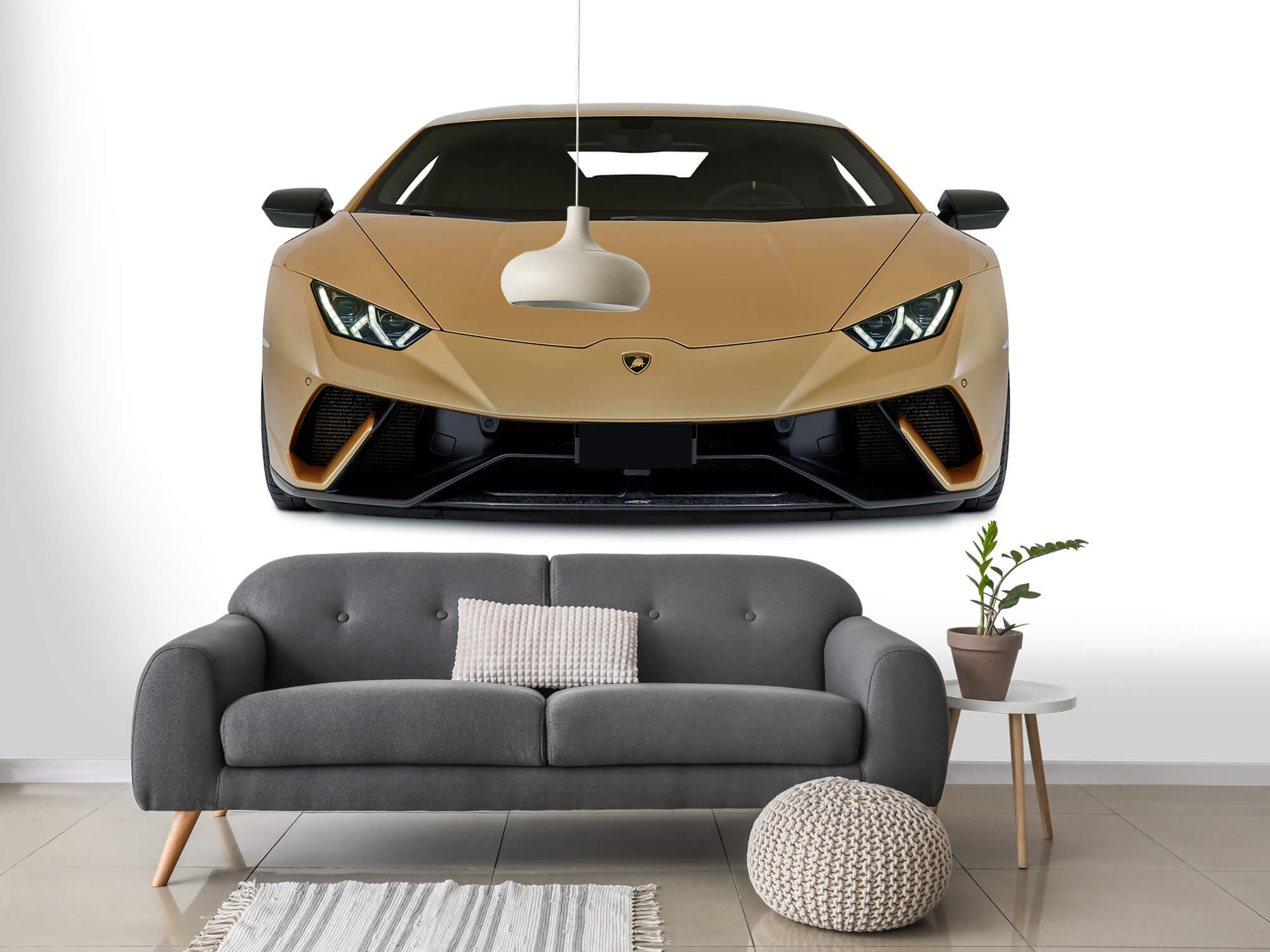 Wallpaper Lamborghini Huracán - Voorkant, wit 14
