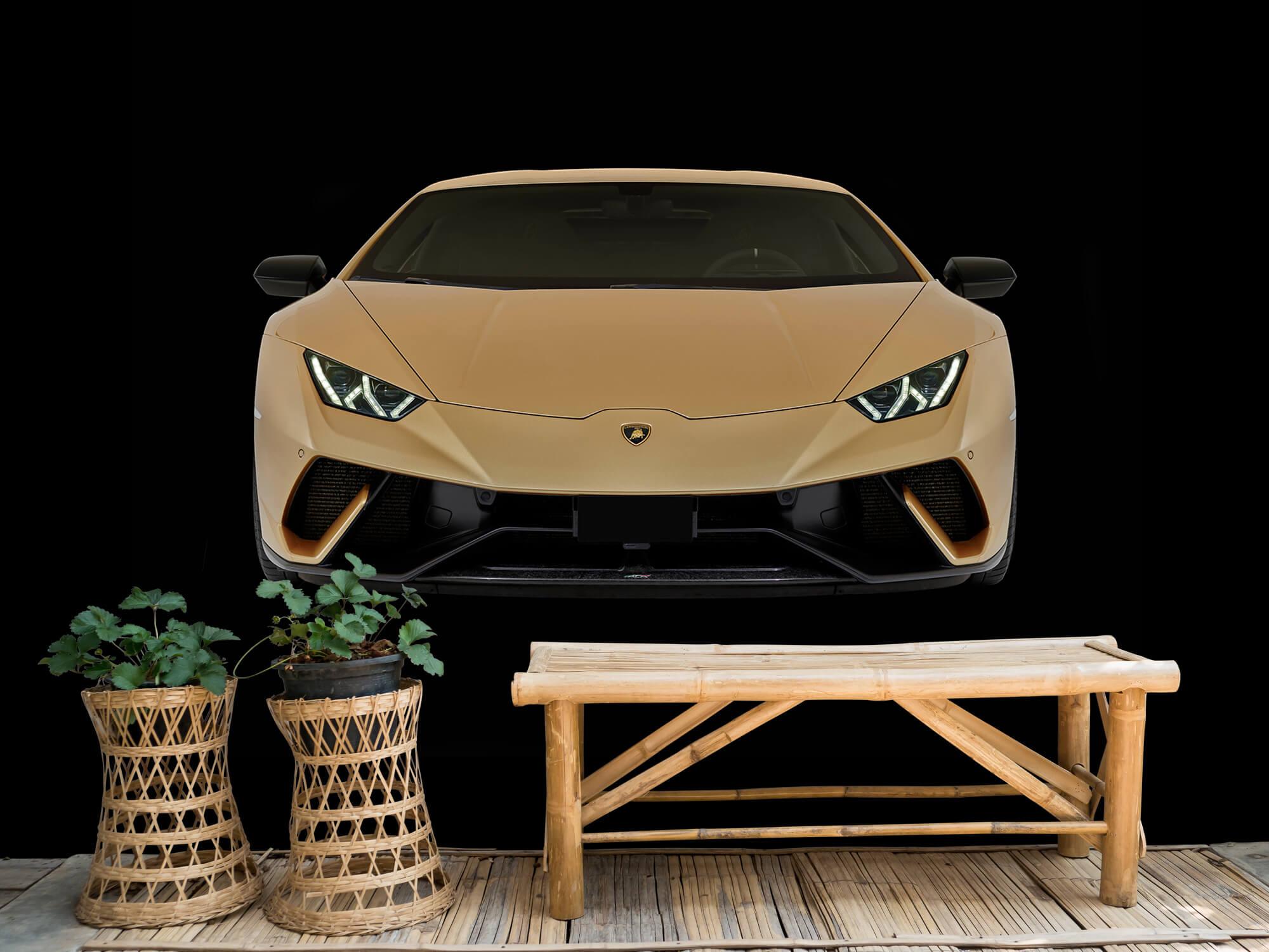 Wallpaper Lamborghini Huracán - Voorkant, zwart 5