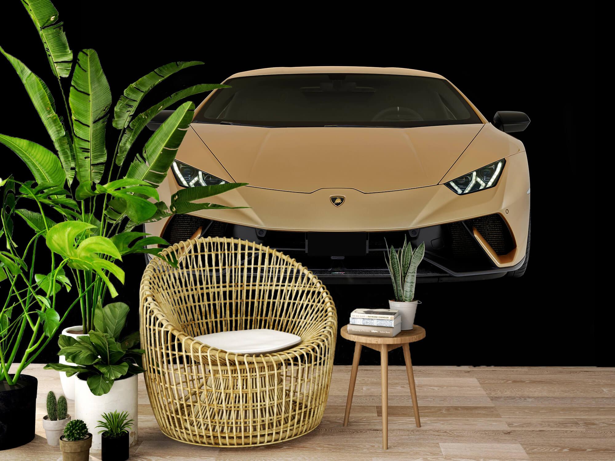 Wallpaper Lamborghini Huracán - Voorkant, zwart 7