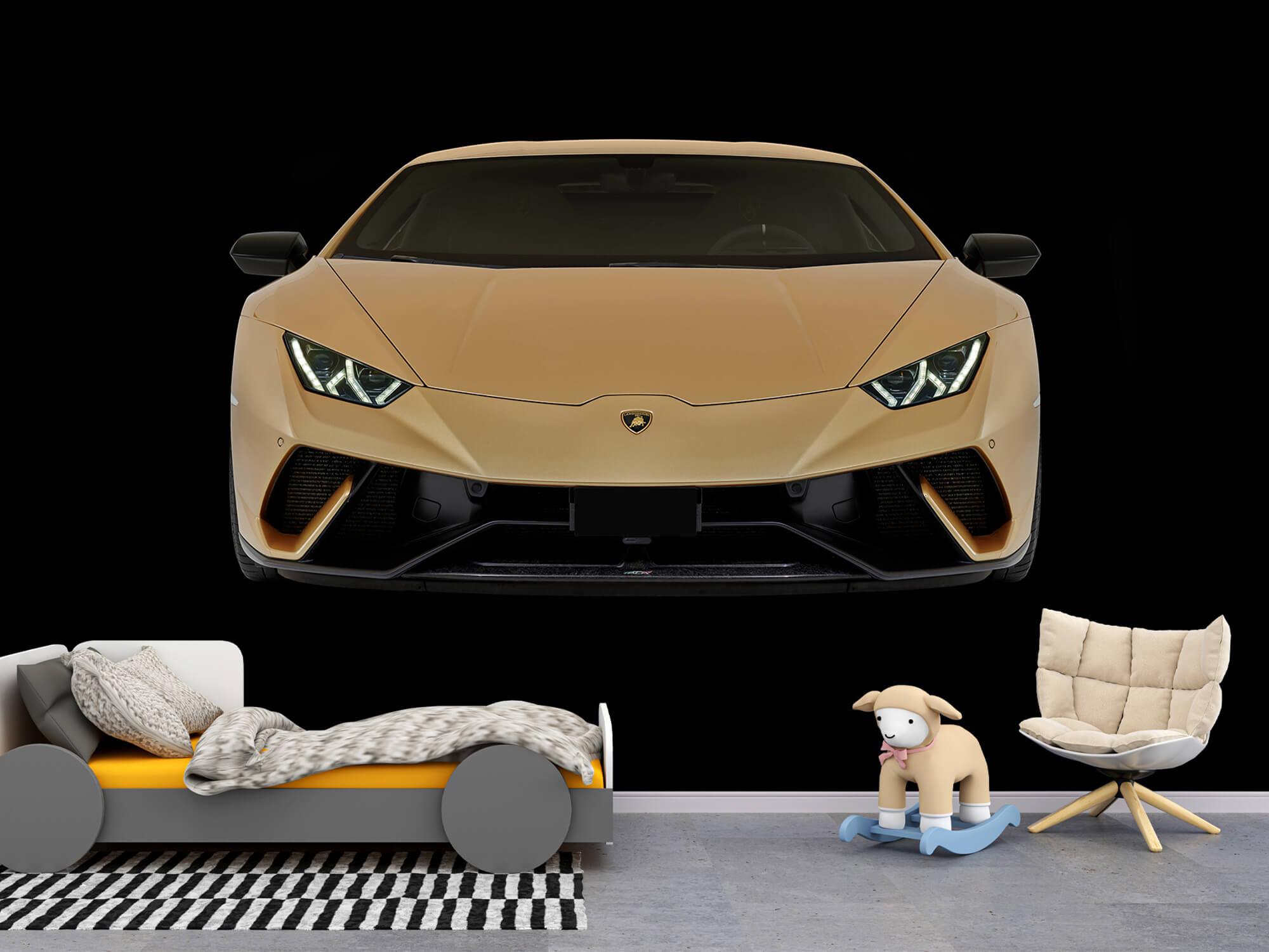 Wallpaper Lamborghini Huracán - Voorkant, zwart 9