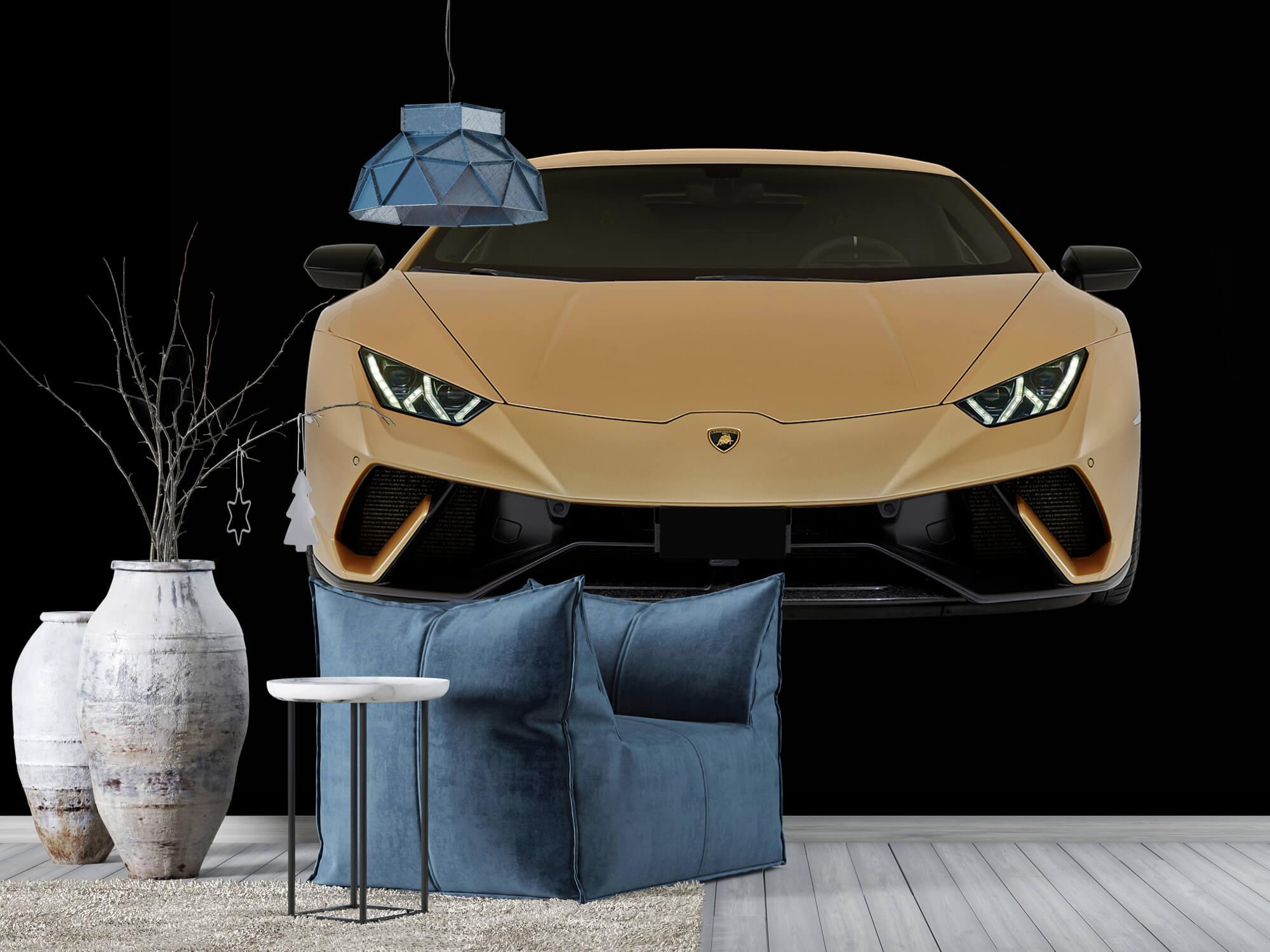 Wallpaper Lamborghini Huracán - Voorkant, zwart 10