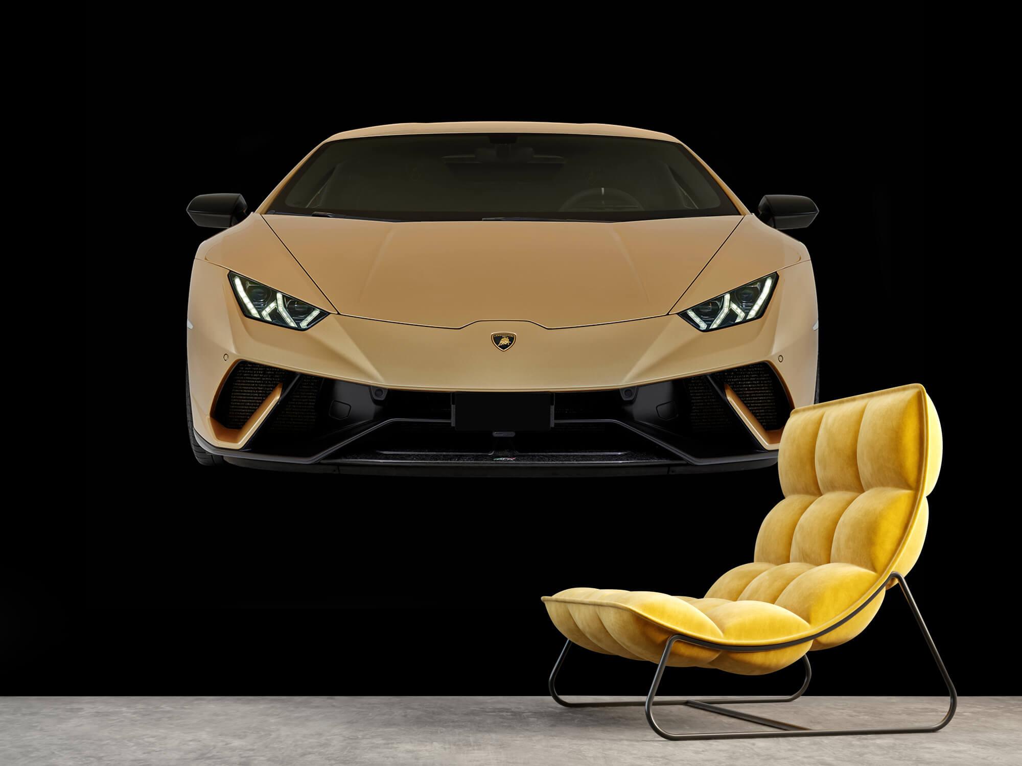 Wallpaper Lamborghini Huracán - Voorkant, zwart 4