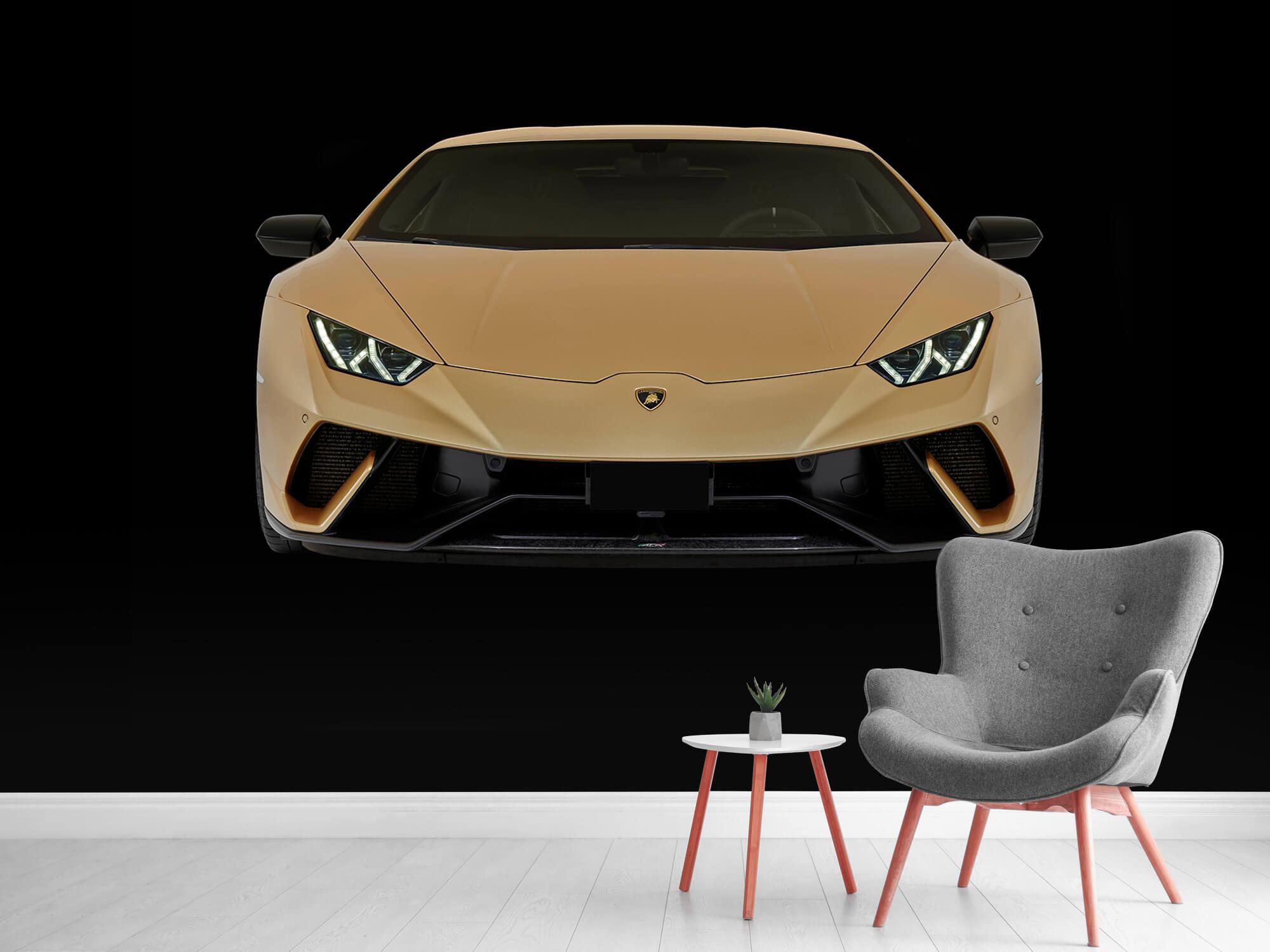Wallpaper Lamborghini Huracán - Voorkant, zwart 12