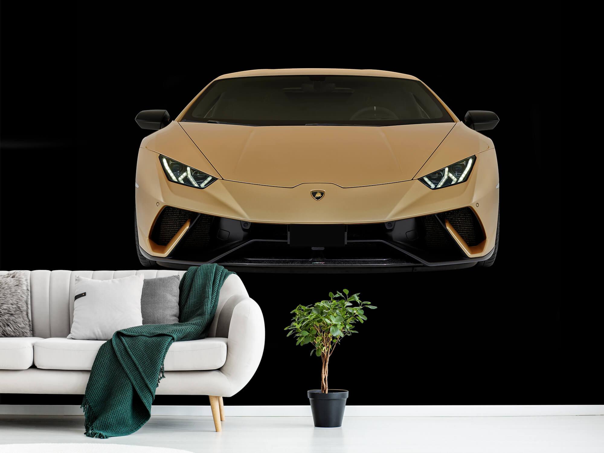 Wallpaper Lamborghini Huracán - Voorkant, zwart 1