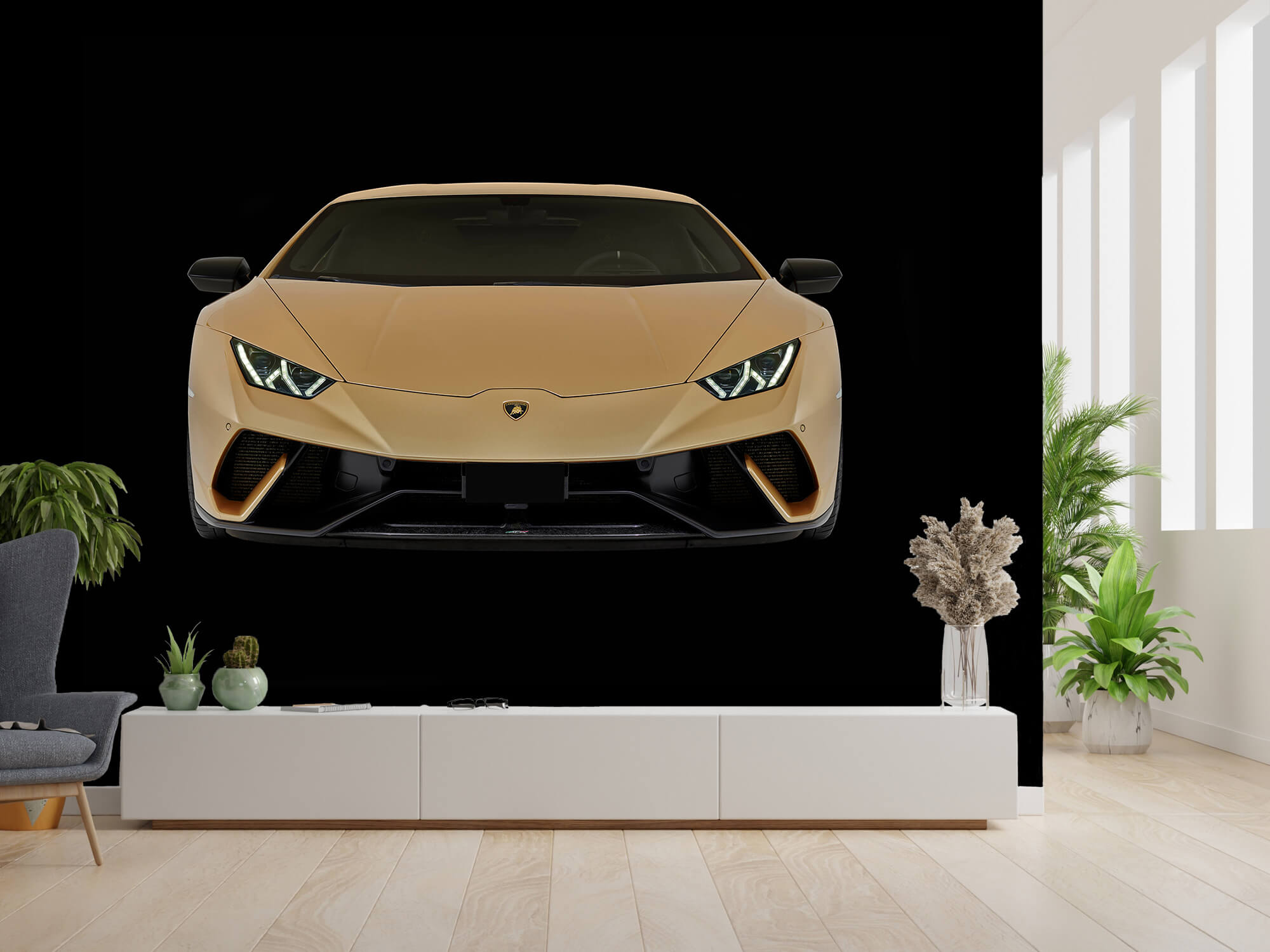 Wallpaper Lamborghini Huracán - Voorkant, zwart 2