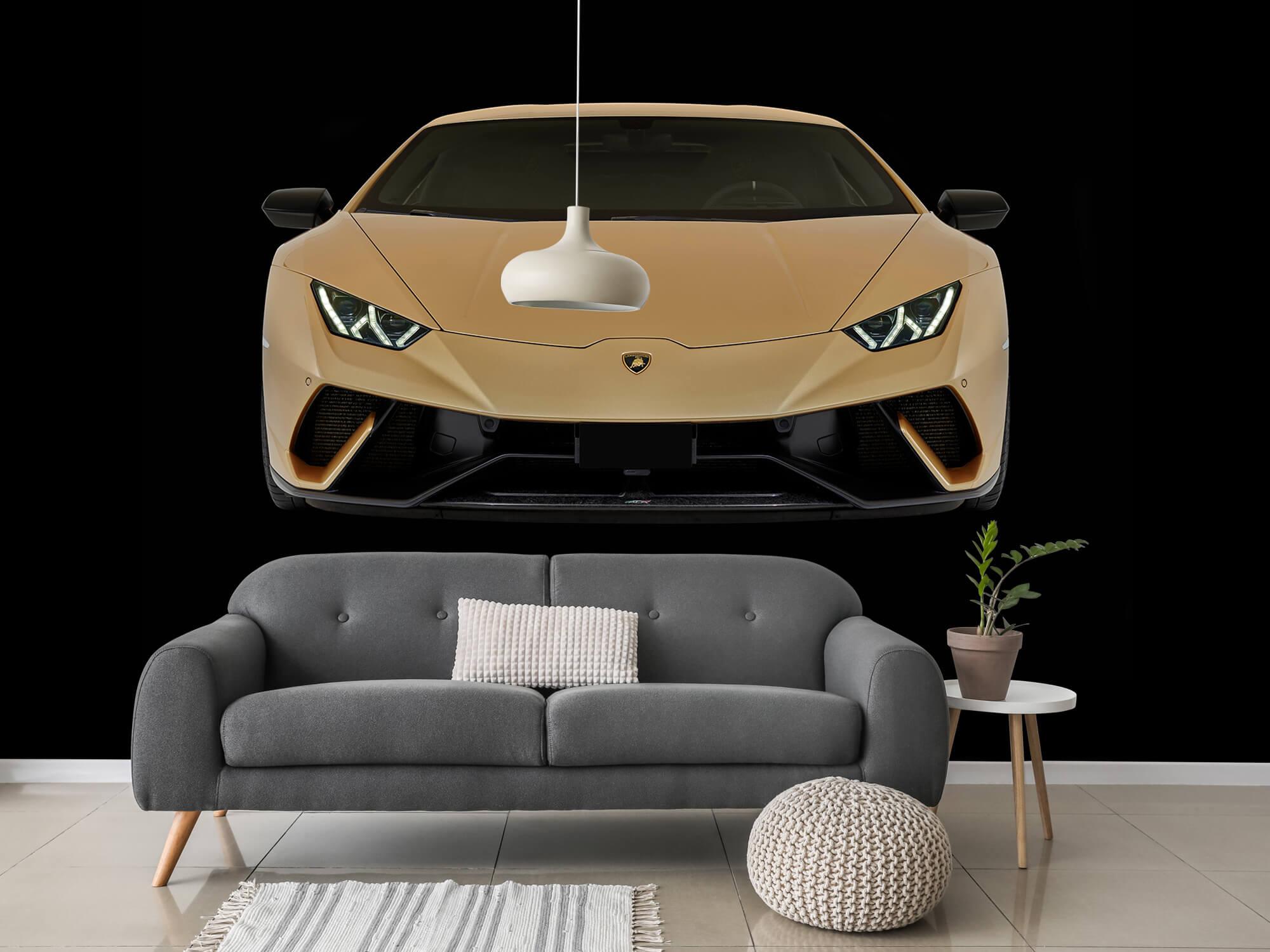 Wallpaper Lamborghini Huracán - Voorkant, zwart 3