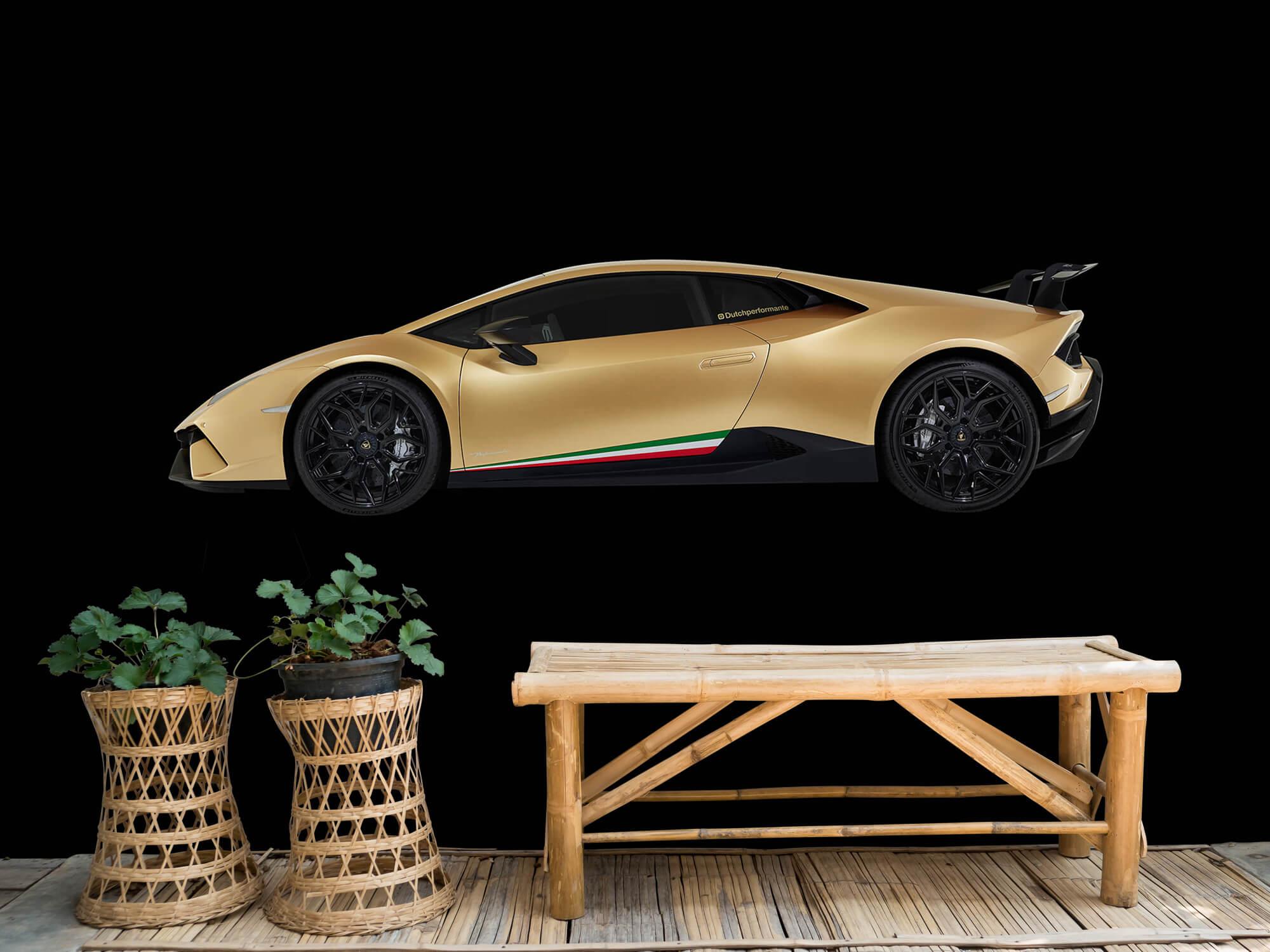Wallpaper Lamborghini Huracán - Zijkant, zwart 10