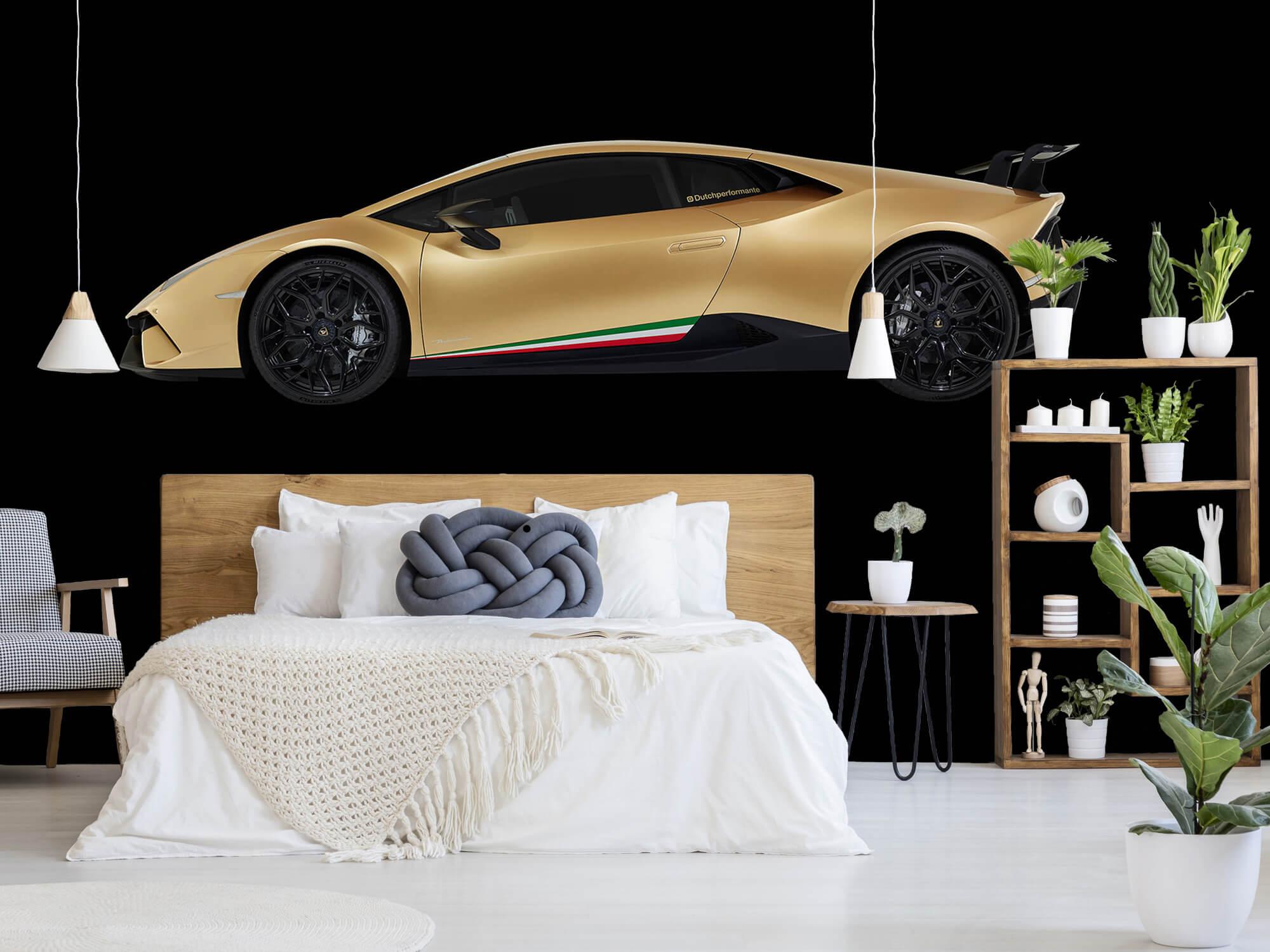 Wallpaper Lamborghini Huracán - Zijkant, zwart 5