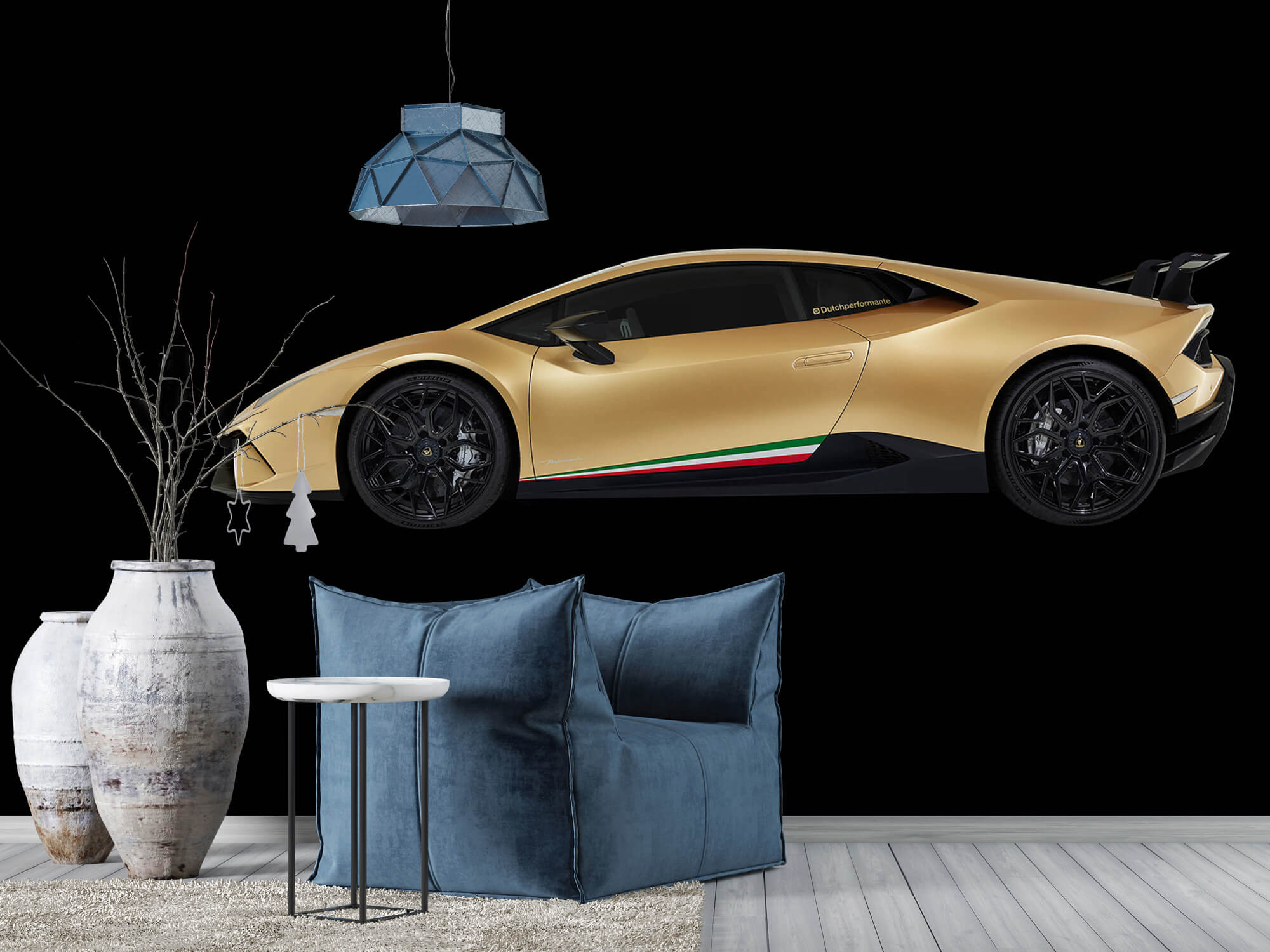 Wallpaper Lamborghini Huracán - Zijkant, zwart 9