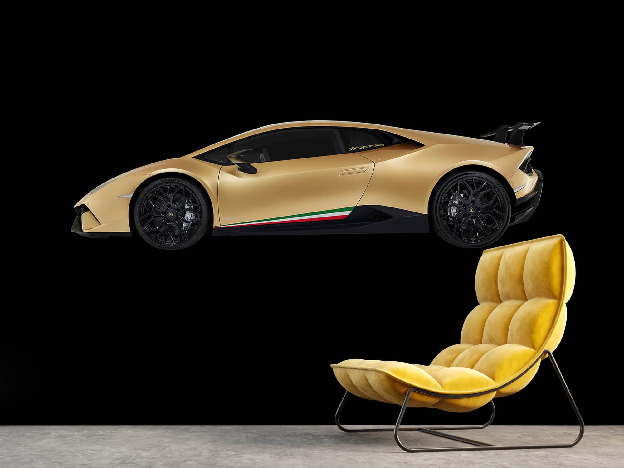Wallpaper Lamborghini Huracán - Zijkant, zwart 3