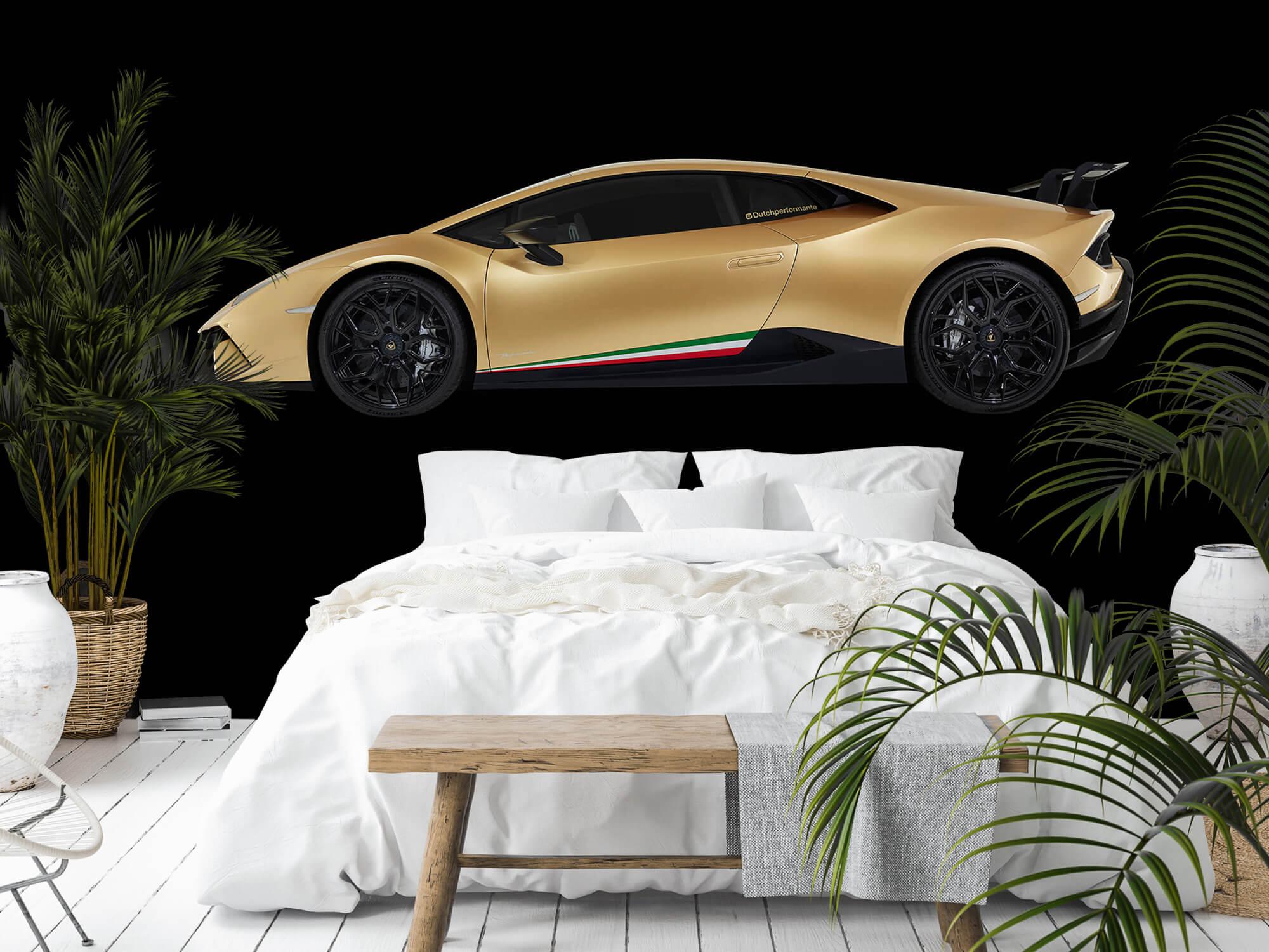 Wallpaper Lamborghini Huracán - Zijkant, zwart 4