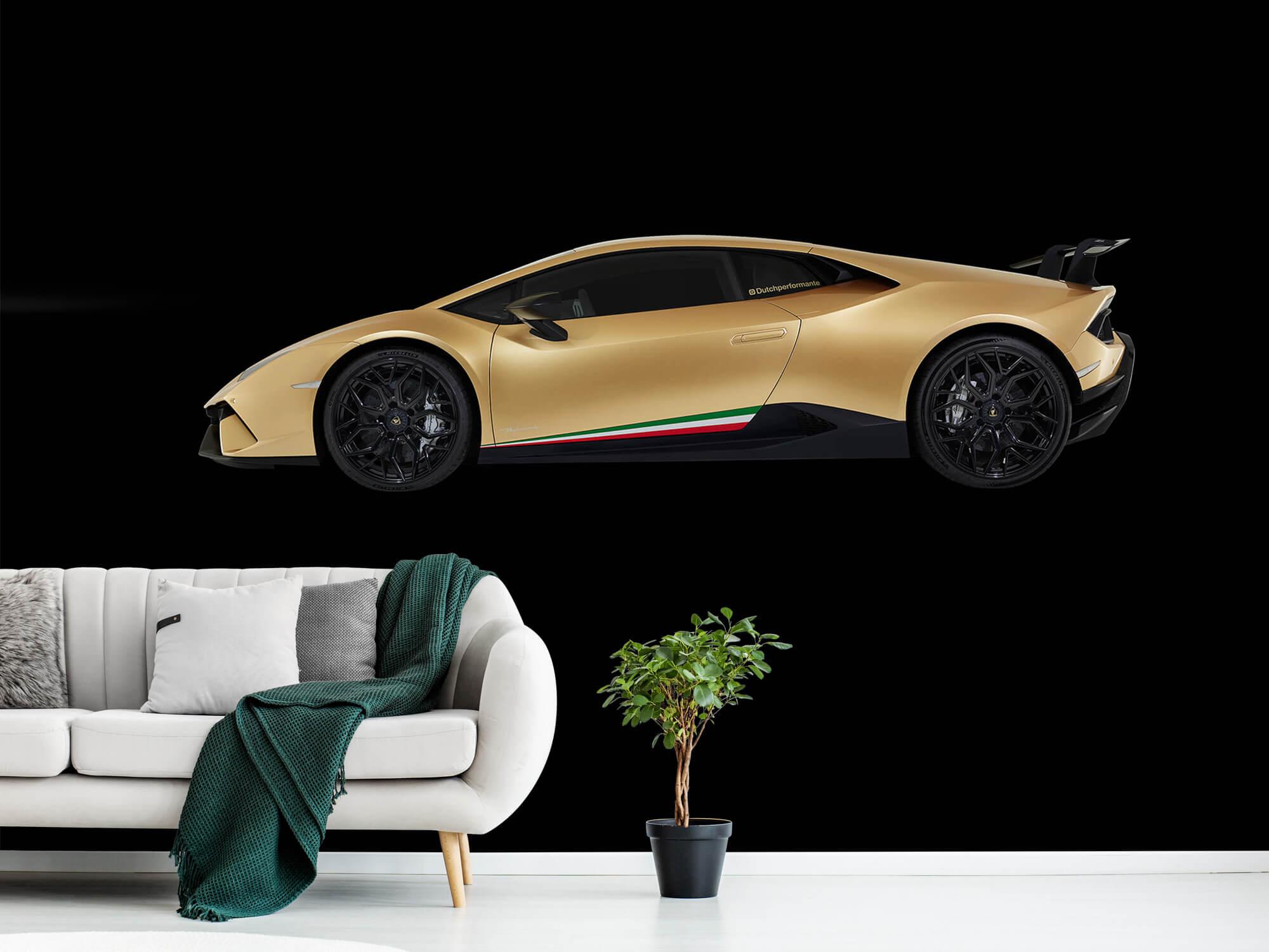 Wallpaper Lamborghini Huracán - Zijkant, zwart 13