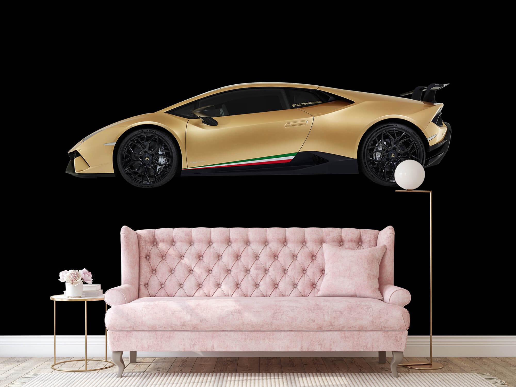 Wallpaper Lamborghini Huracán - Zijkant, zwart 14