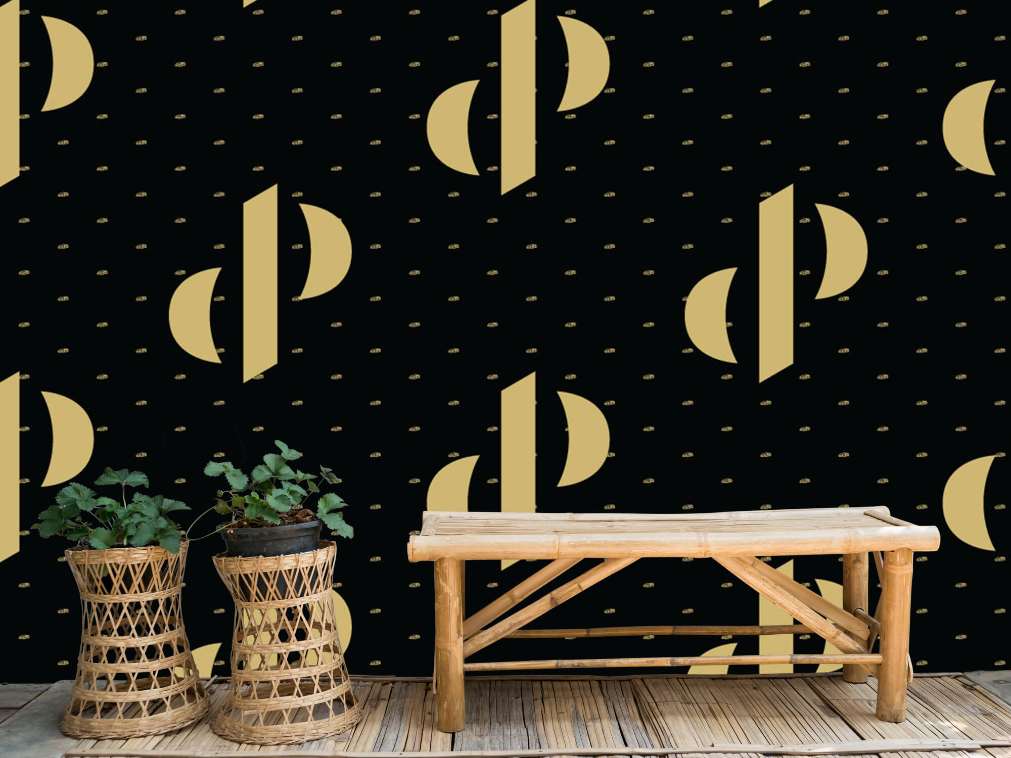 Pattern Dutch Performante - Logo, zwart met goud 1