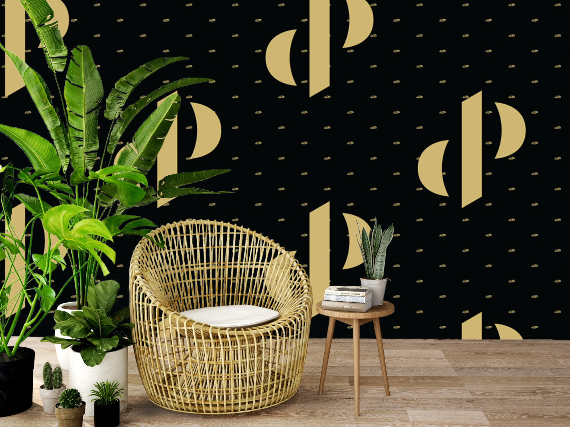 Pattern Dutch Performante - Logo, zwart met goud 4