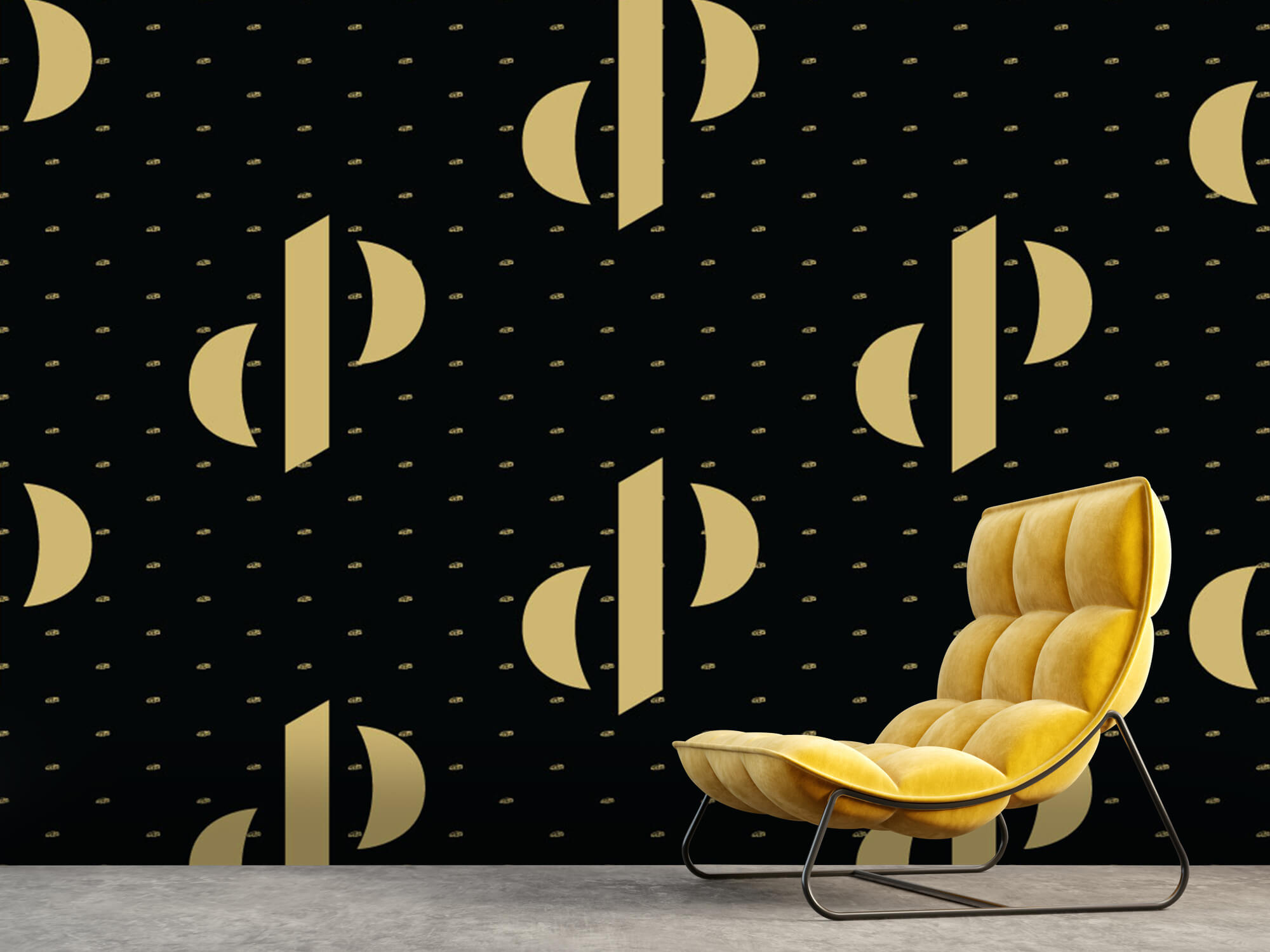 Pattern Dutch Performante - Logo, zwart met goud 7