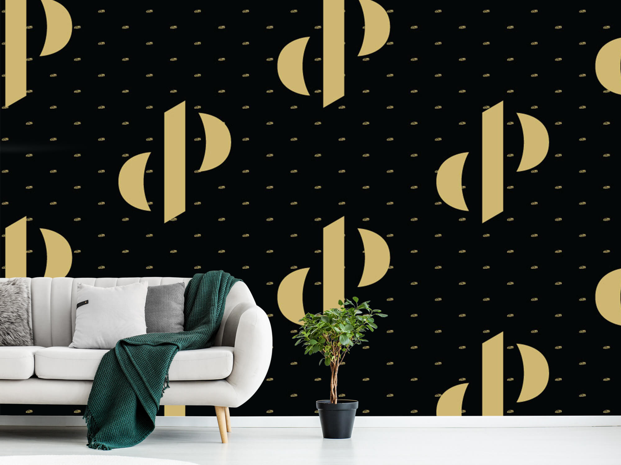 Pattern Dutch Performante - Logo, zwart met goud 11