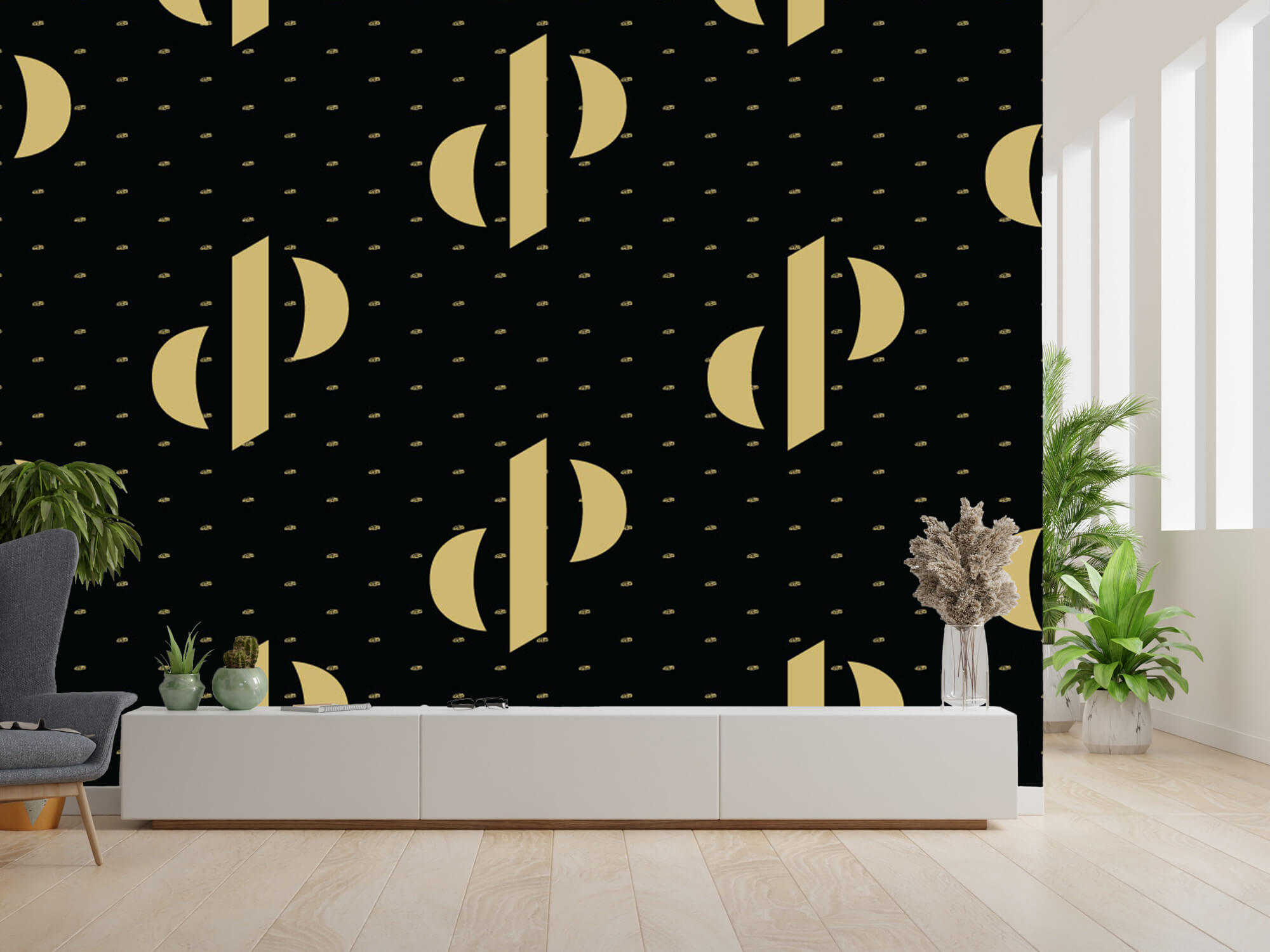 Pattern Dutch Performante - Logo, zwart met goud 14