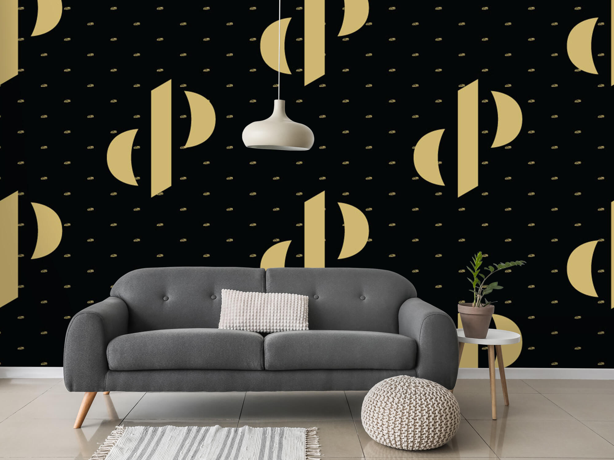 Pattern Dutch Performante - Logo, zwart met goud 15