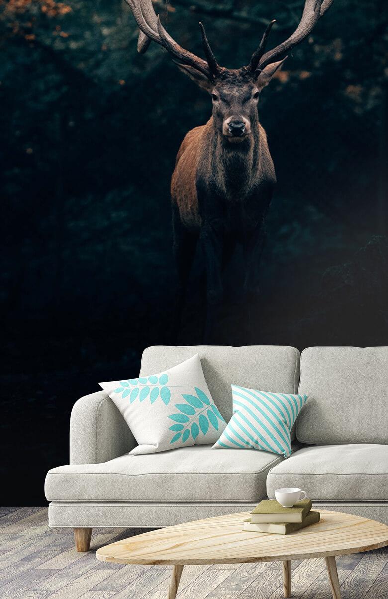 wallpaper Damhert in het bos 10