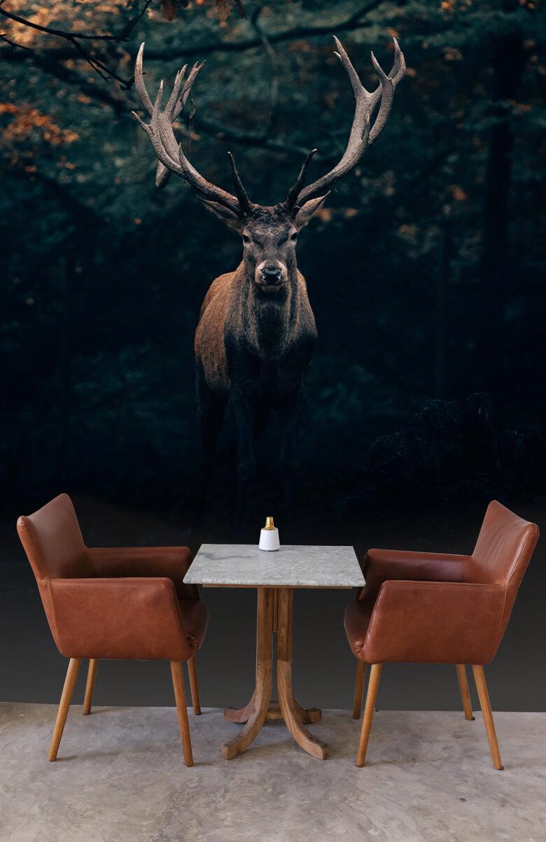 wallpaper Damhert in het bos 1