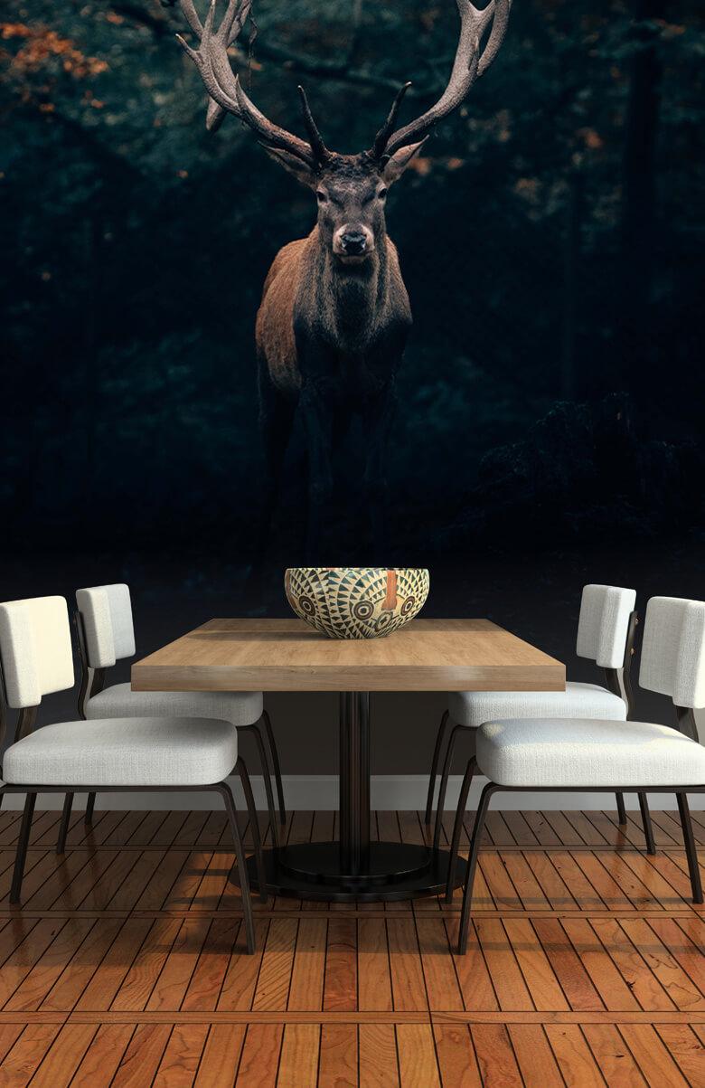 wallpaper Damhert in het bos 9