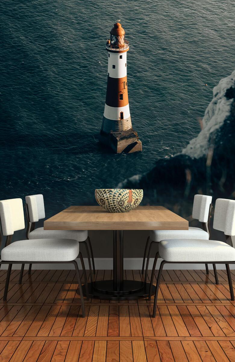 wallpaper Vuurtoren aan de Engelse kust 2