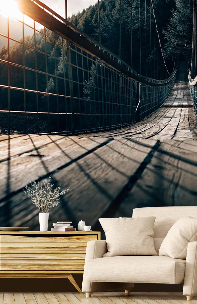 wallpaper Hangbrug van staal 1