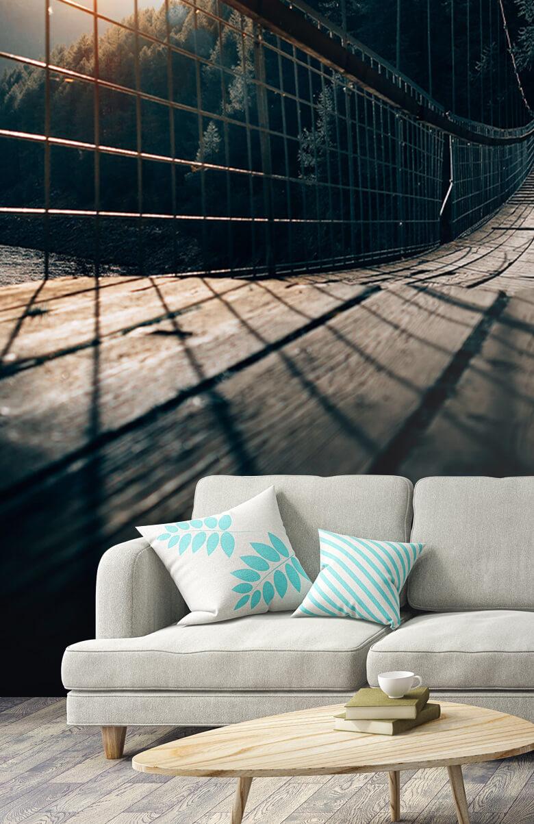 wallpaper Hangbrug van staal 8