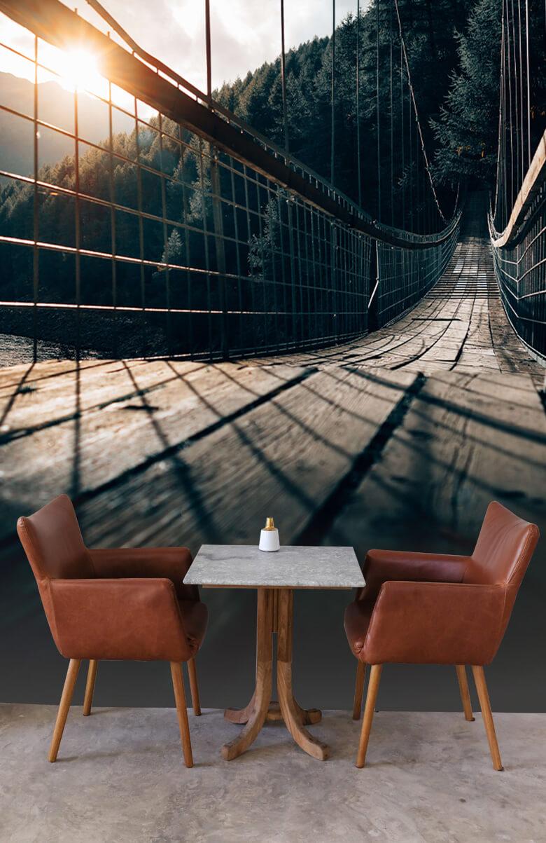 wallpaper Hangbrug van staal 2