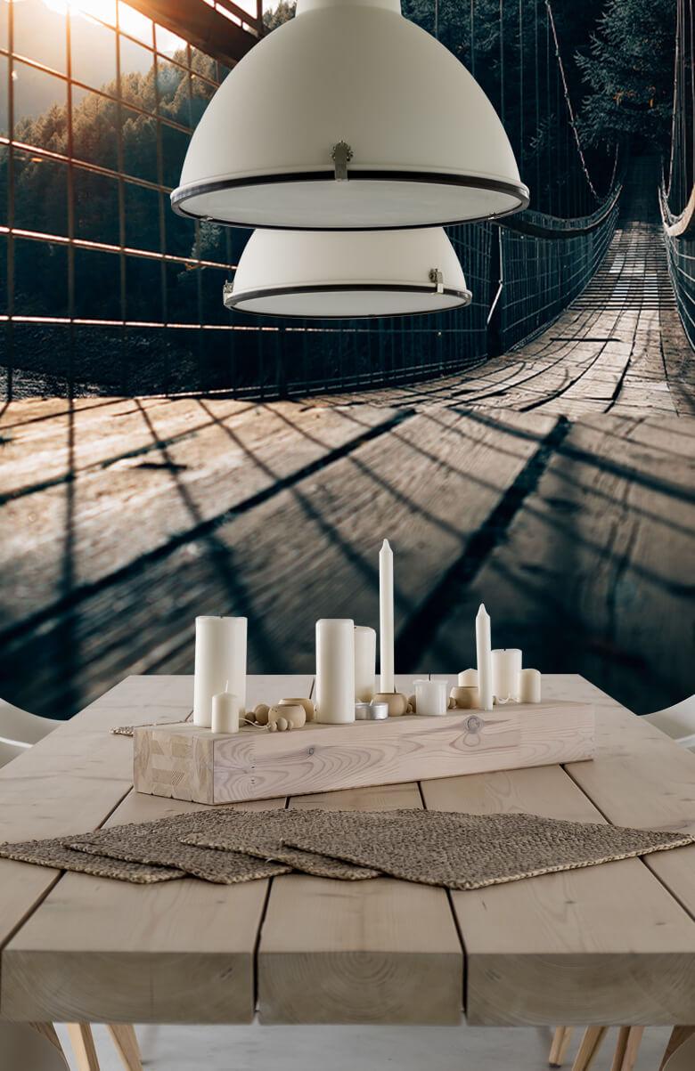 wallpaper Hangbrug van staal 10