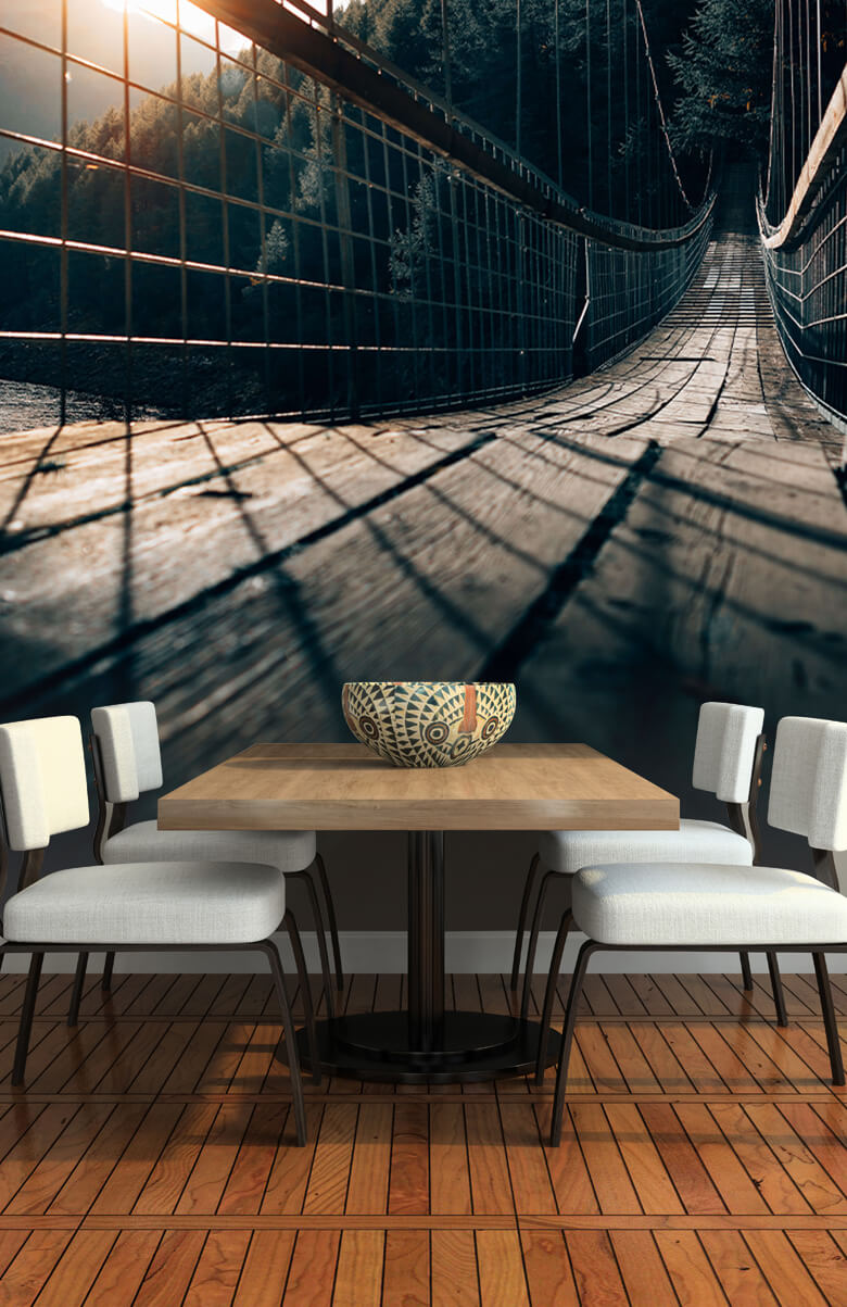 wallpaper Hangbrug van staal 4