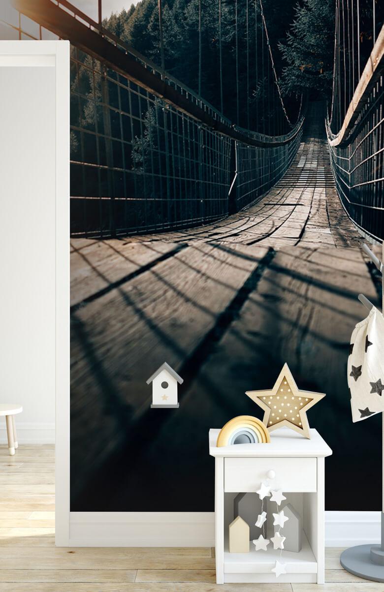 wallpaper Hangbrug van staal 12