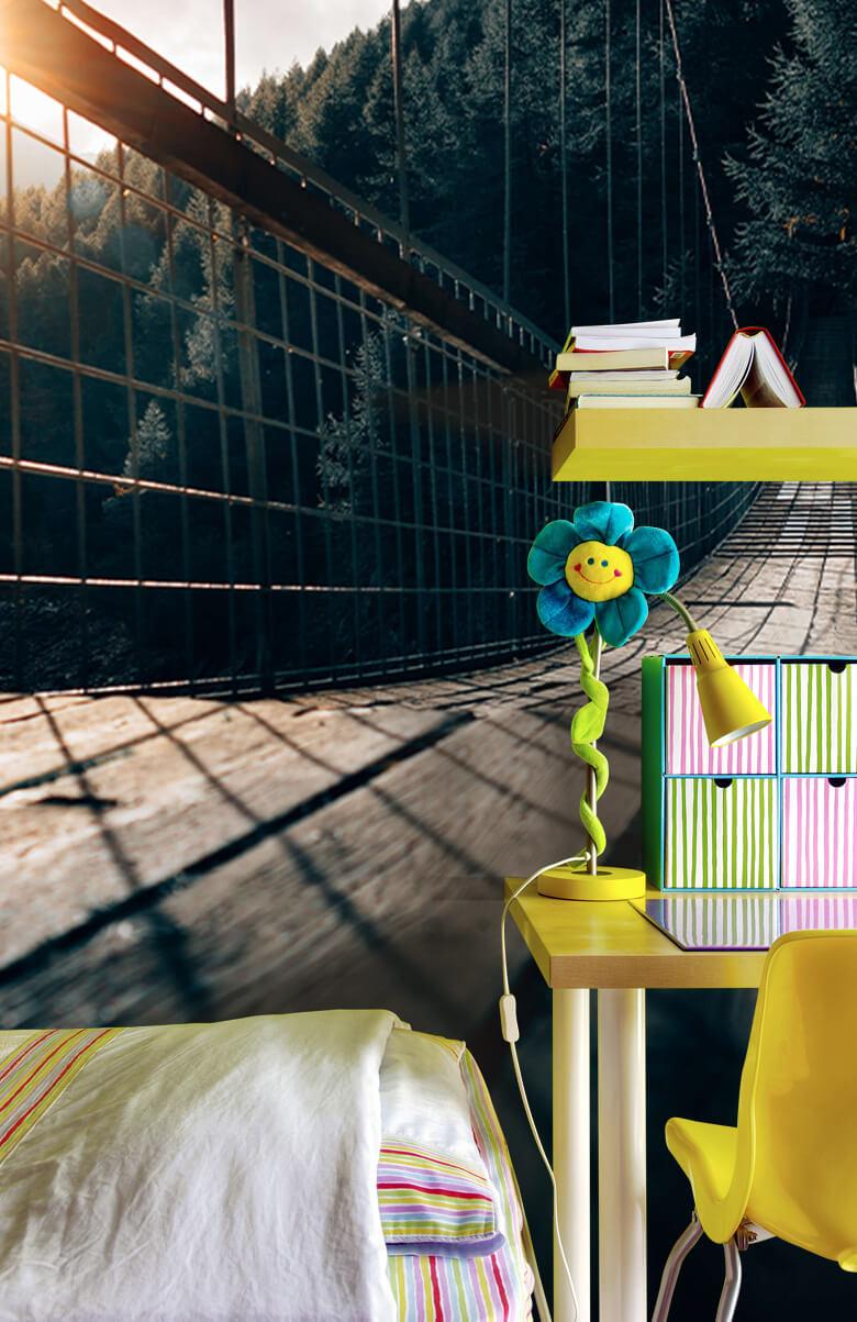 wallpaper Hangbrug van staal 13